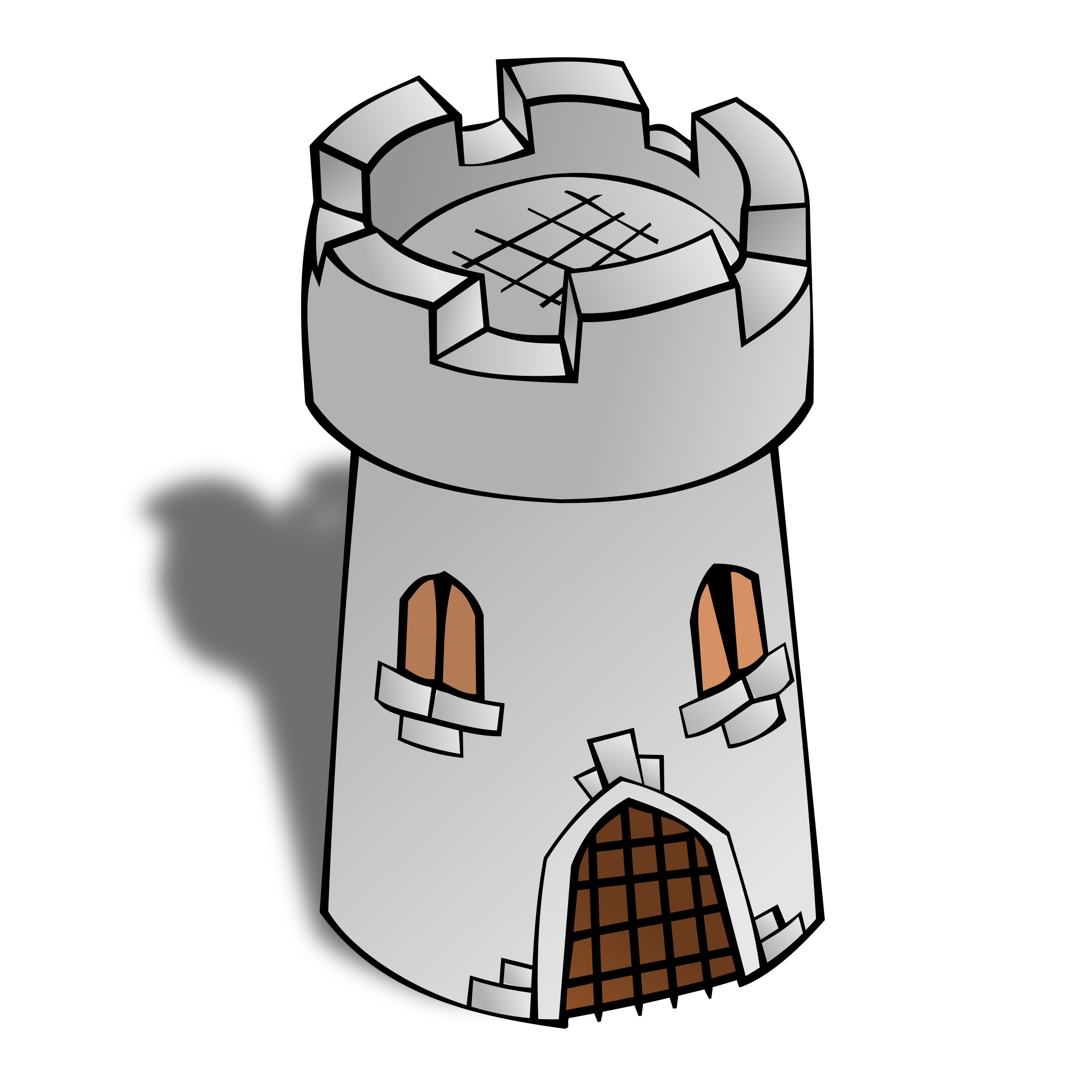RPG map symbols: Round Tower by nicubunu