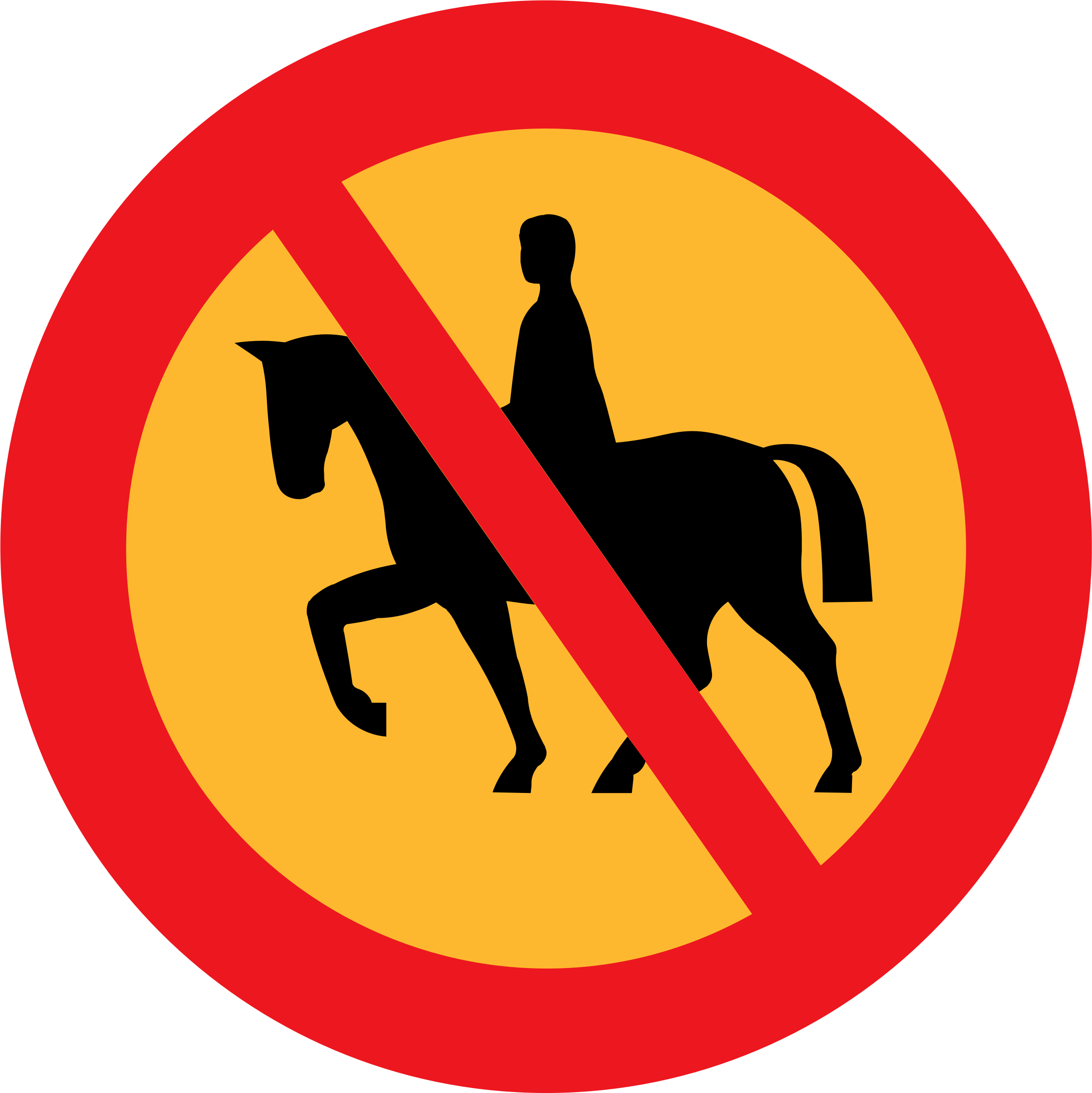 No horse riding sign by ryanlerch