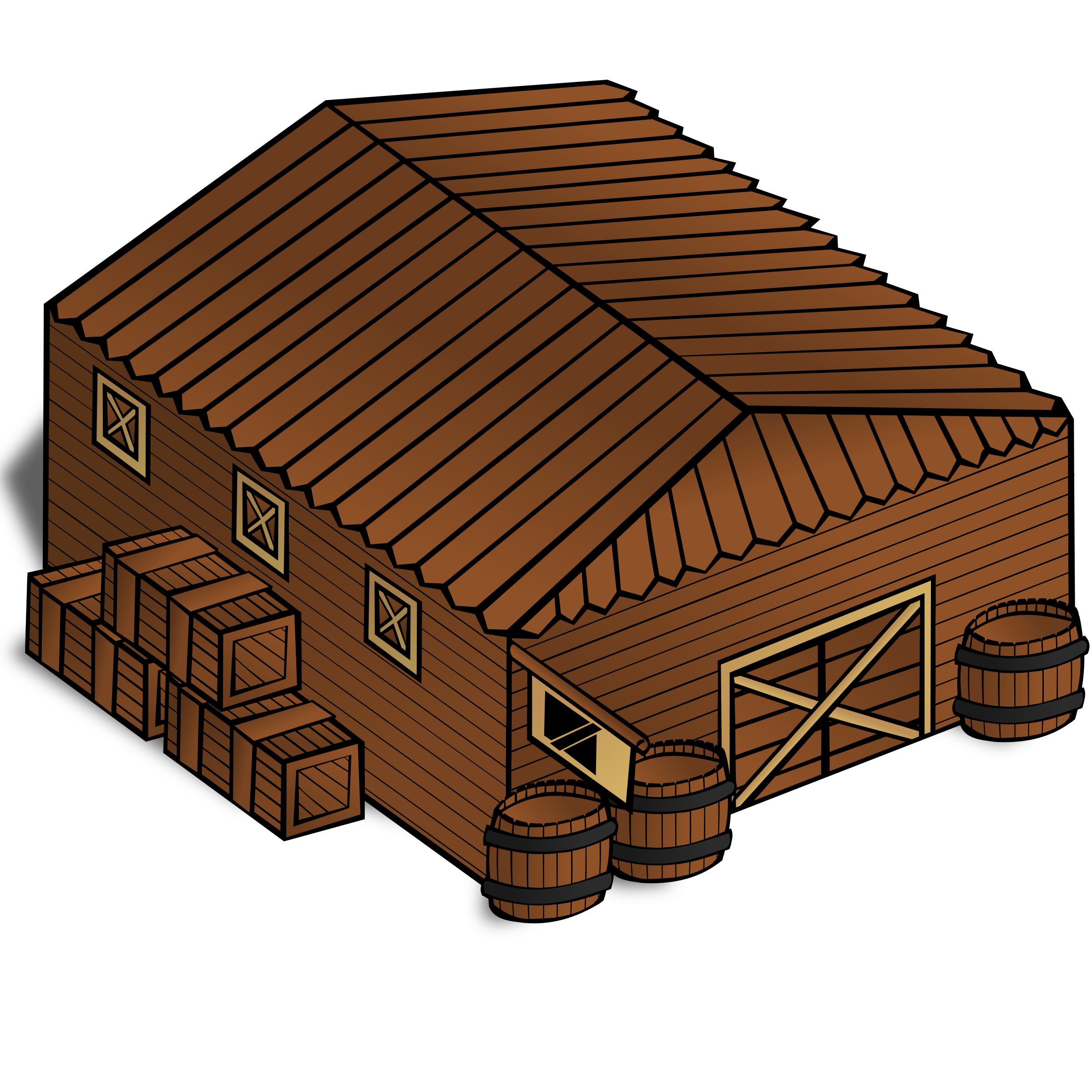 RPG map symbols: Warehouse by nicubunu
