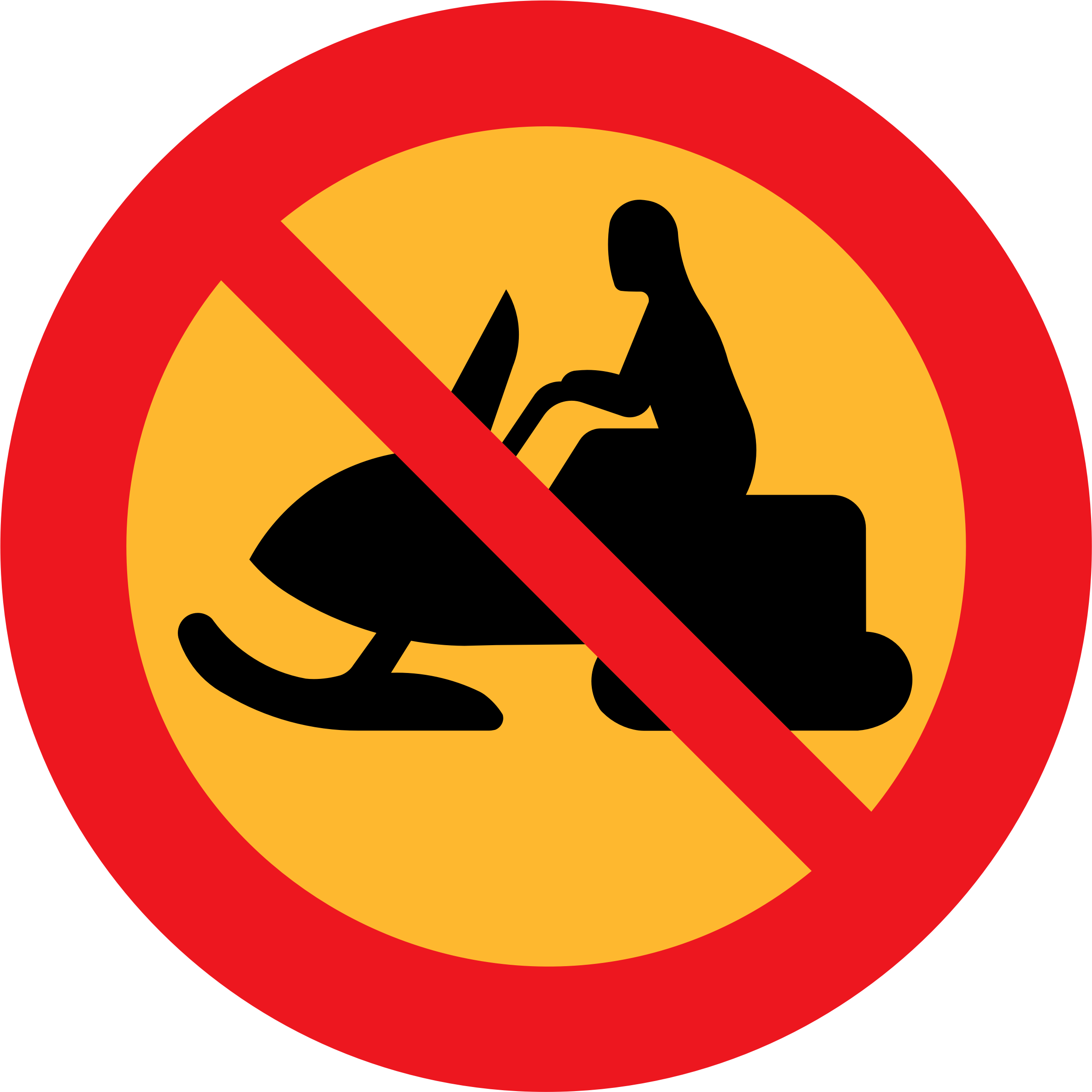 No Snowmobiles Sign by ryanlerch