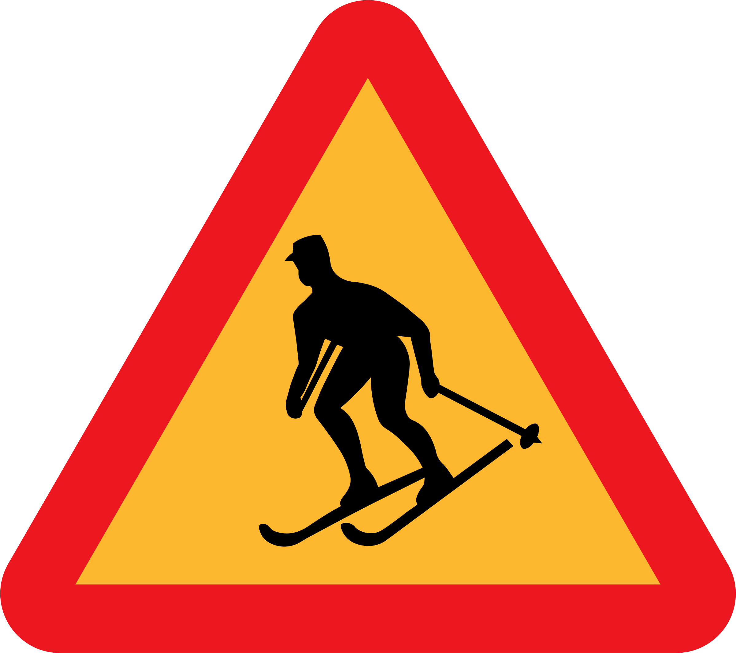 Skiier Sign by ryanlerch