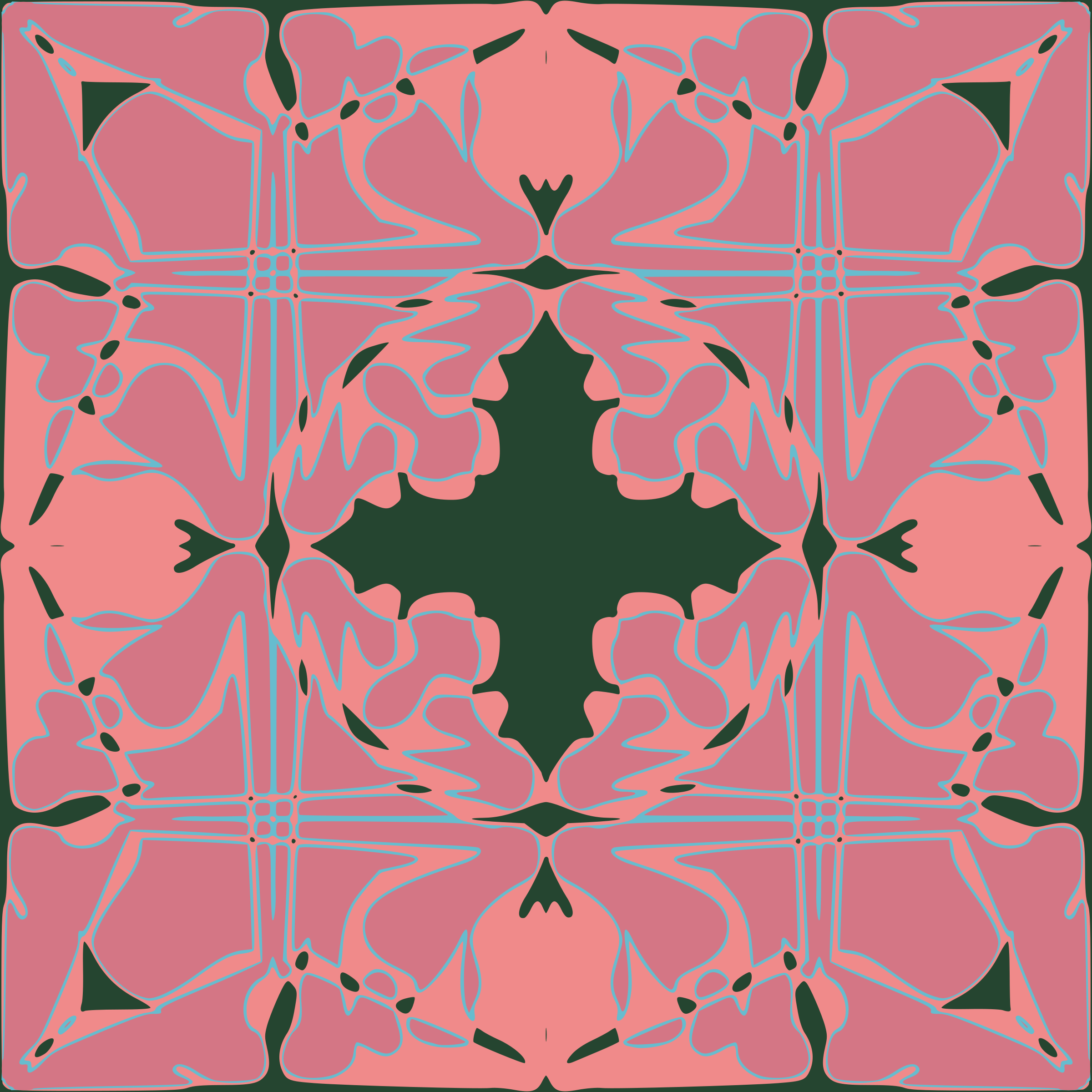 Art Nouveau Tile Pattern by rwwgub