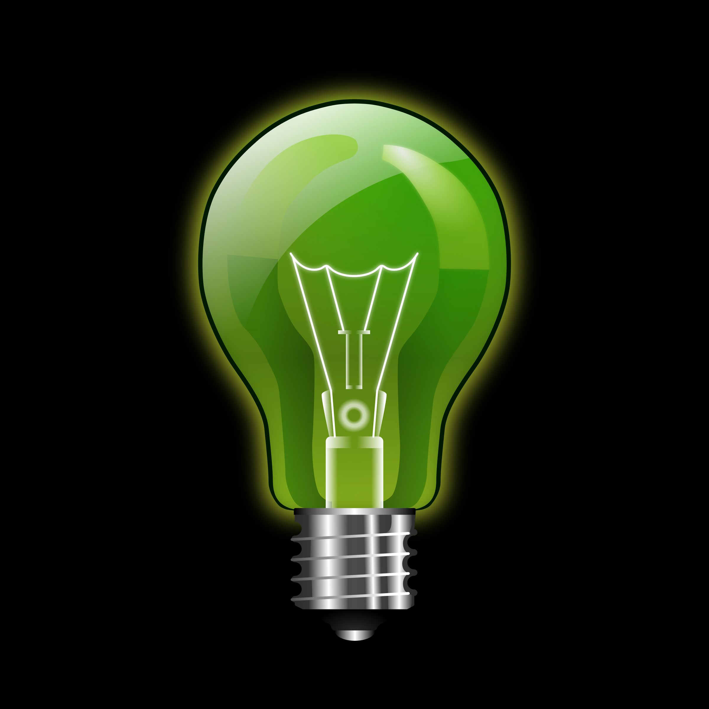 Green lightbulb by kuba