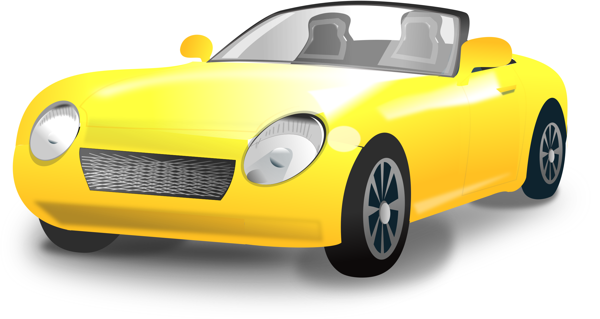 vehicle yellow sports car - photo #23