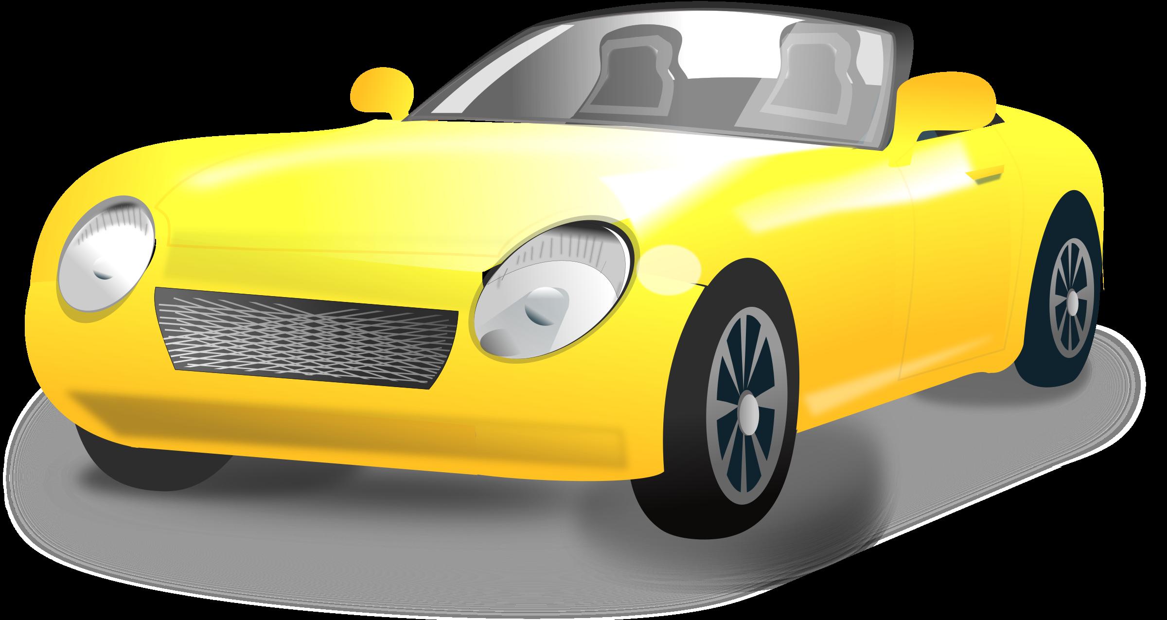 vehicle yellow sports car - photo #23