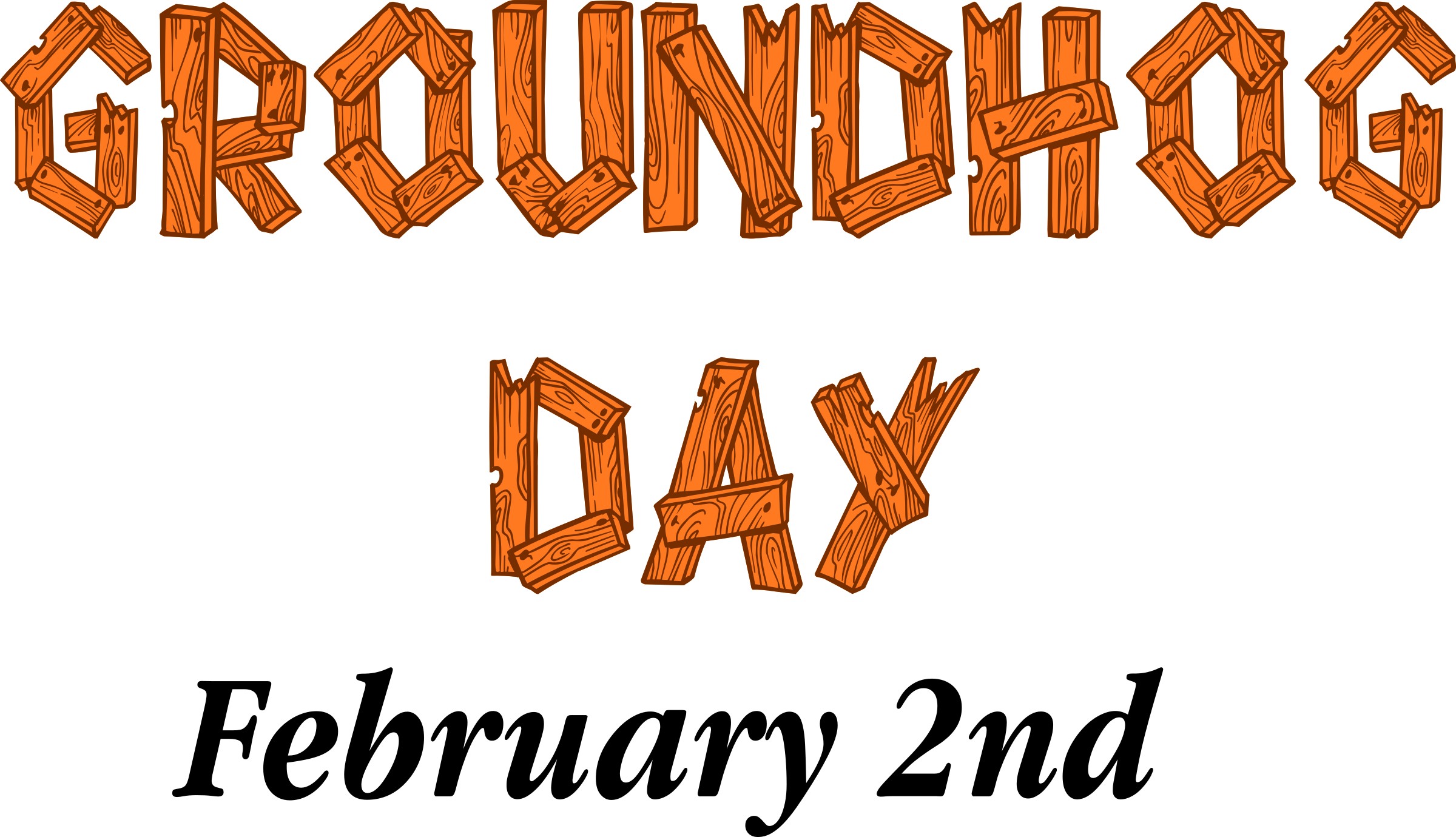Clipart - Groundhog Day Sign