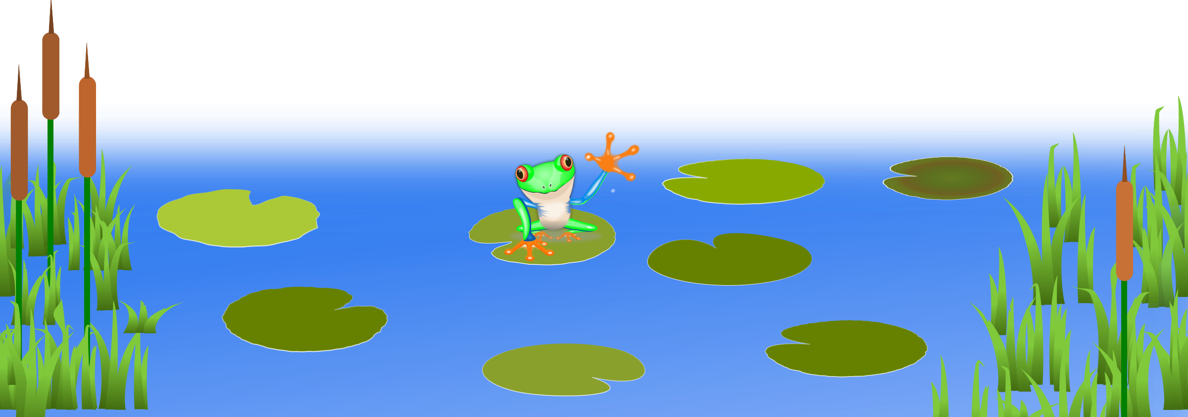 Frog On Bluish Pond by schugschug