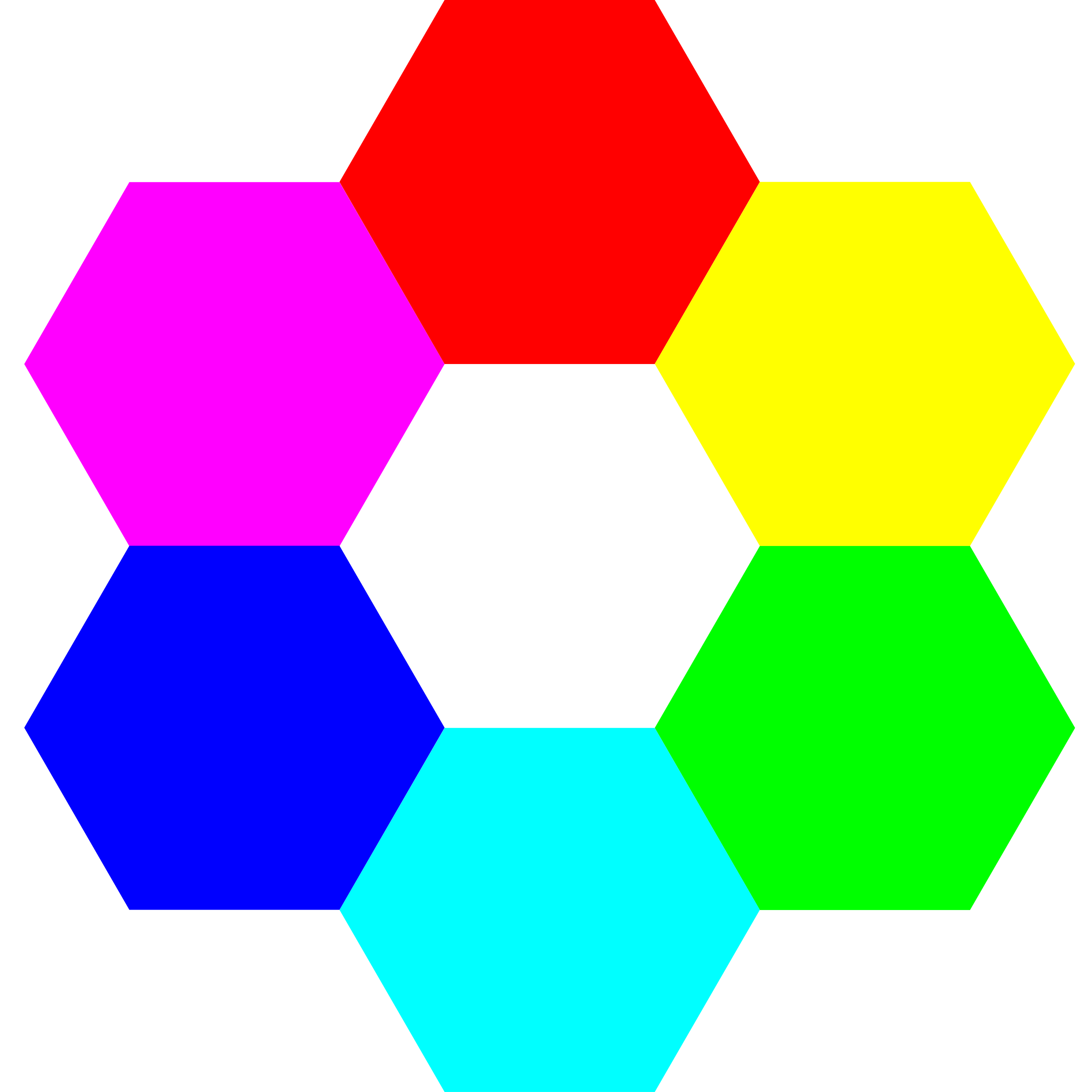 6 color hexagons by 10binary