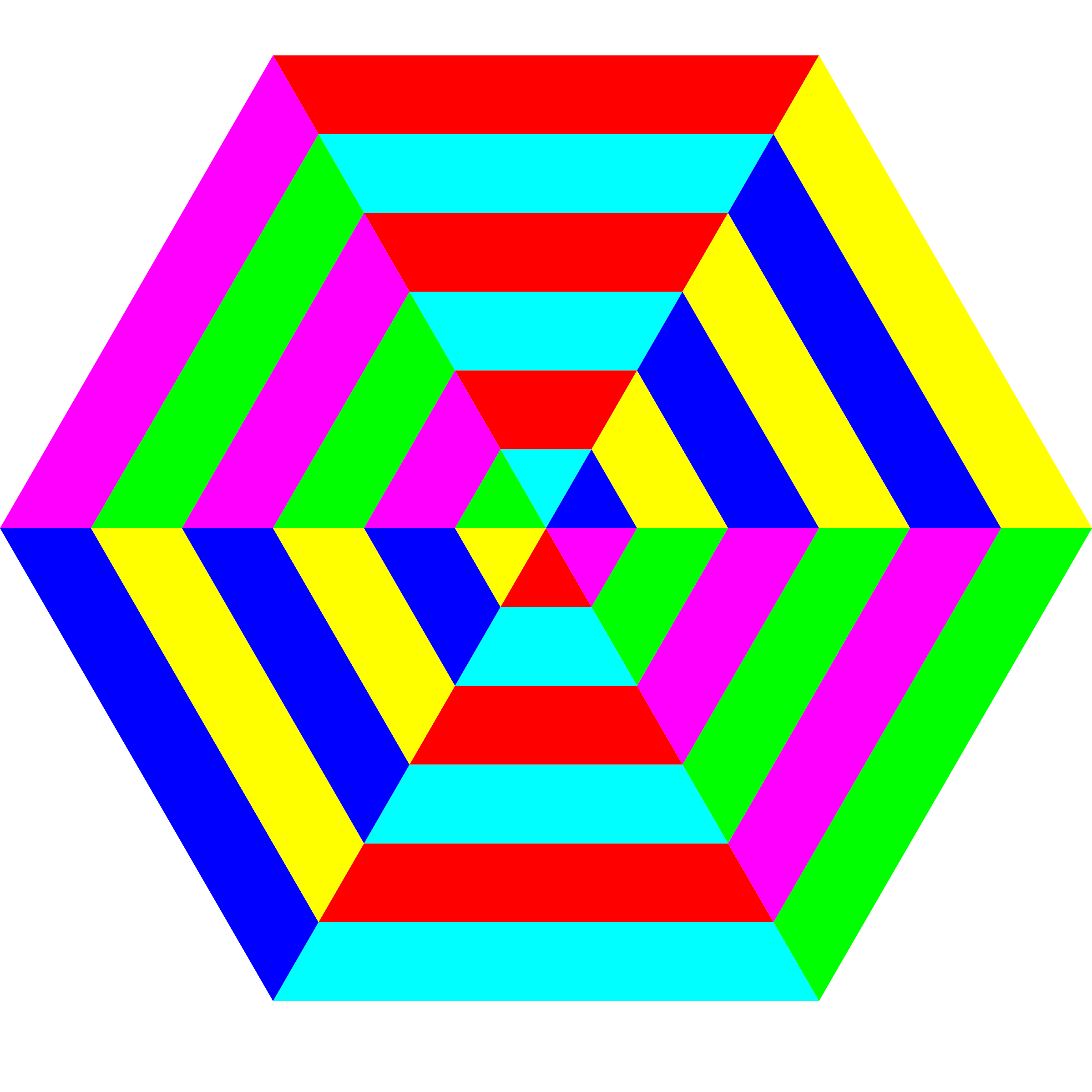 hexgon triangle stripes by 10binary