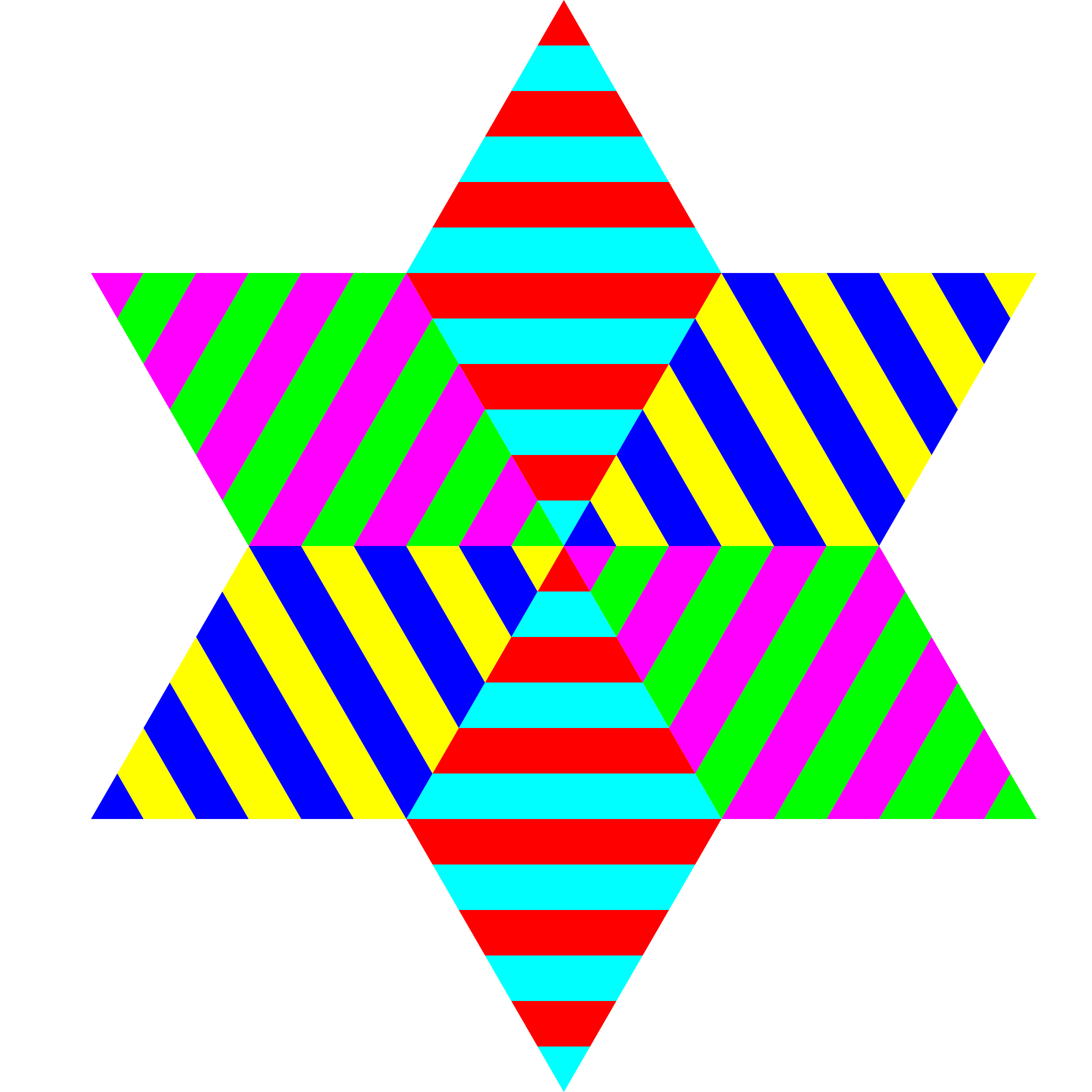 hexagram triangle stripes by 10binary
