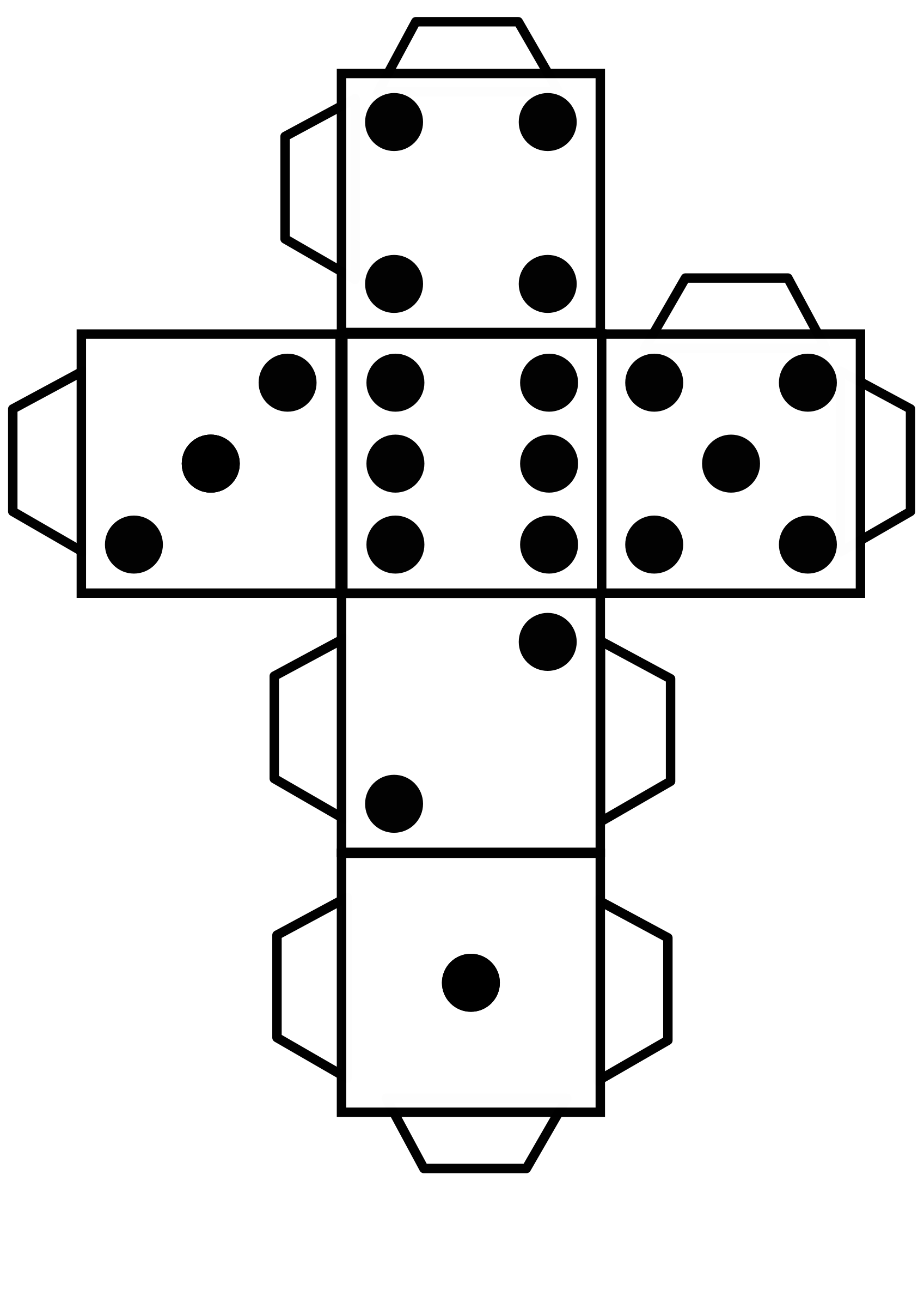 Printable die dice by snifty