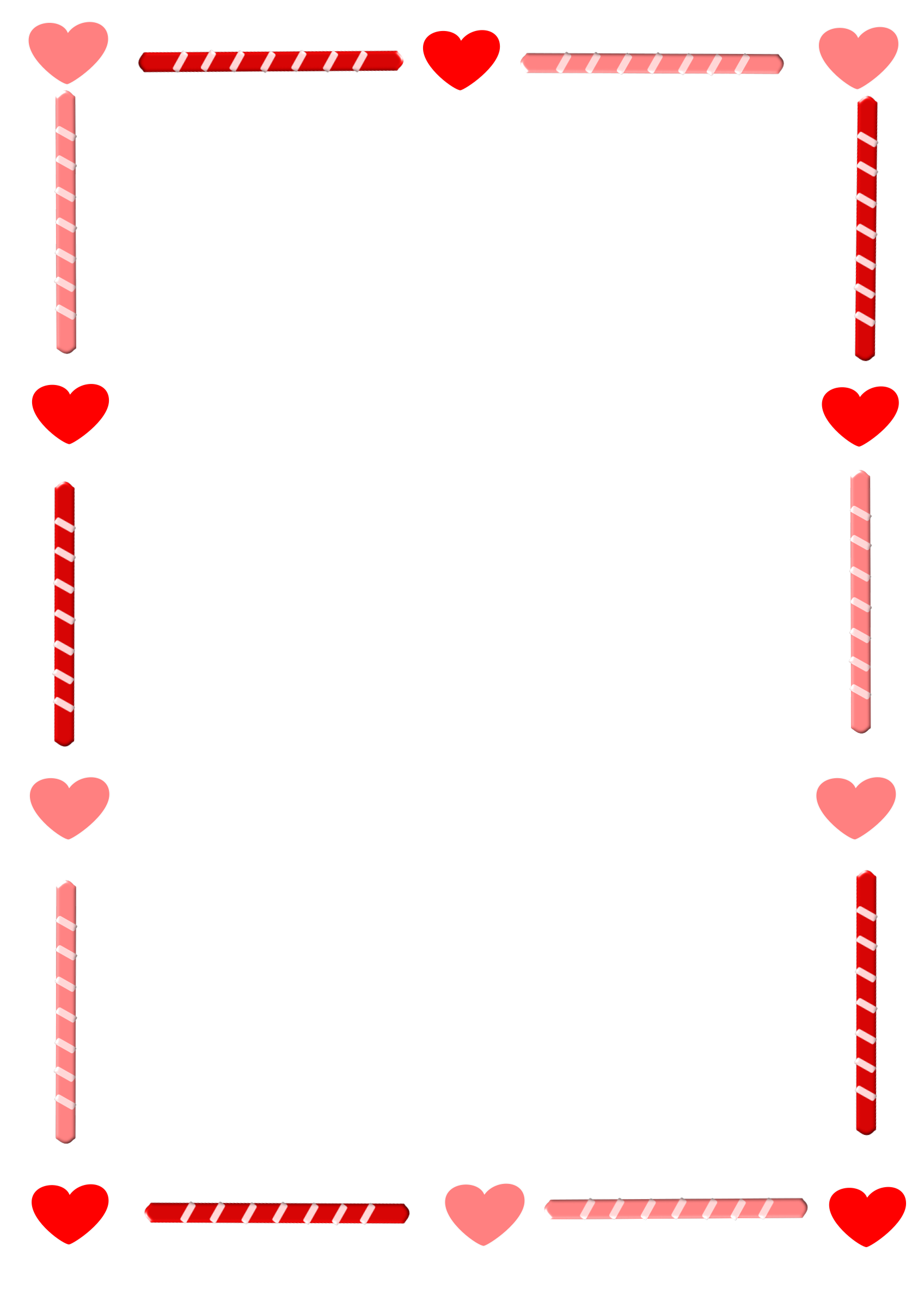 Heart and Candy Border by cuteeverything