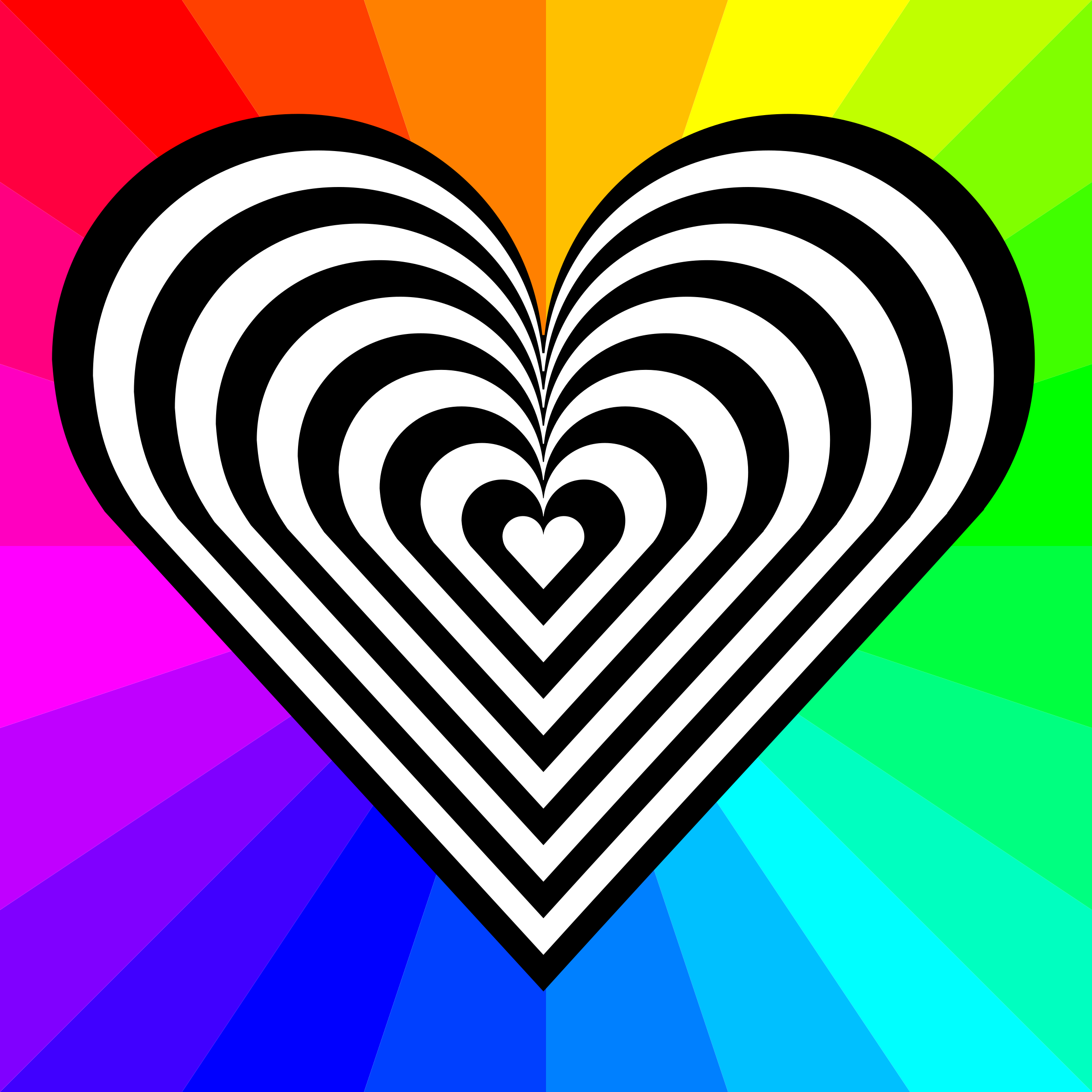 zebra heart 12 stripes by 10binary