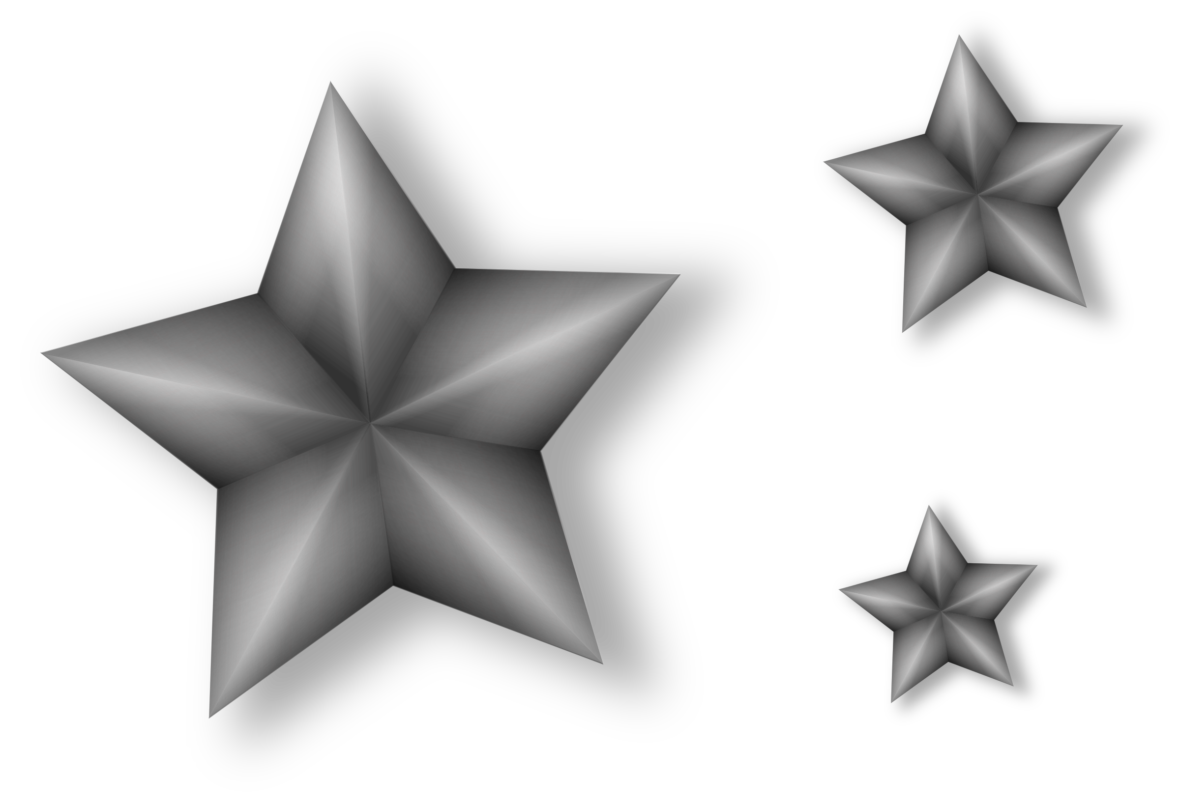 3 Metal Stars with Transparency by Merlin2525