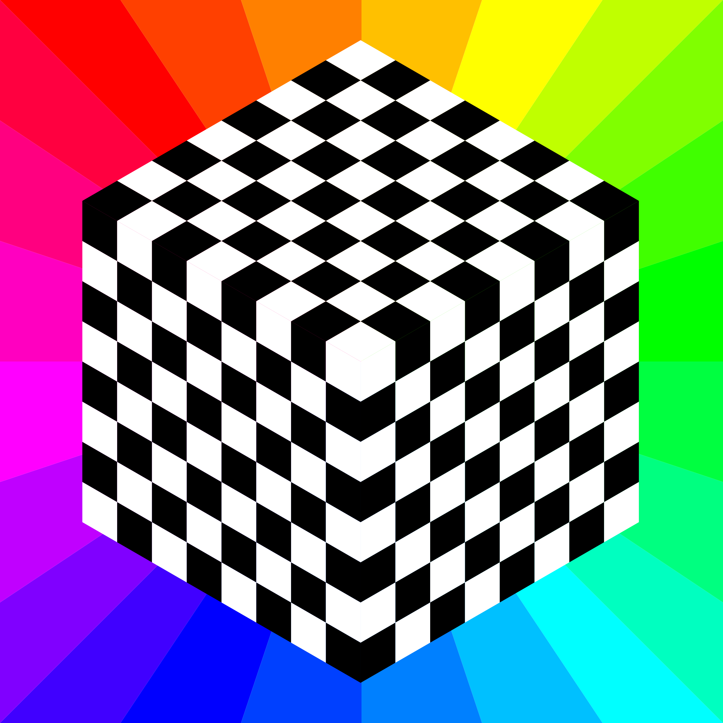 3d chessboard 8 squares by 10binary