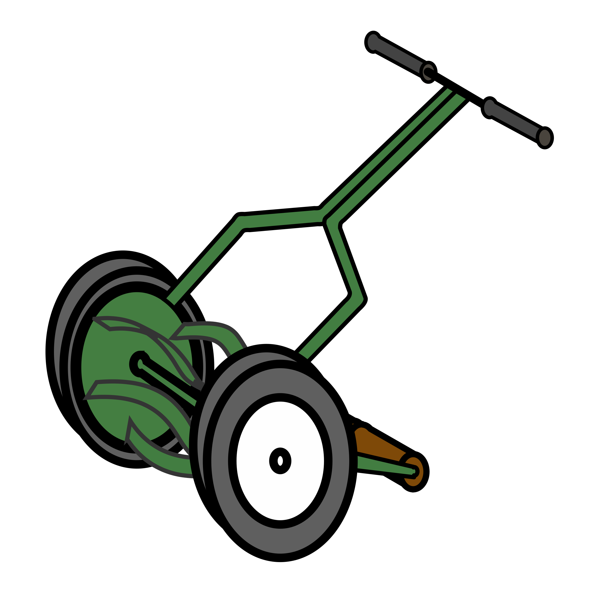 Cartoon Push Reel Lawn Mower by bnielsen