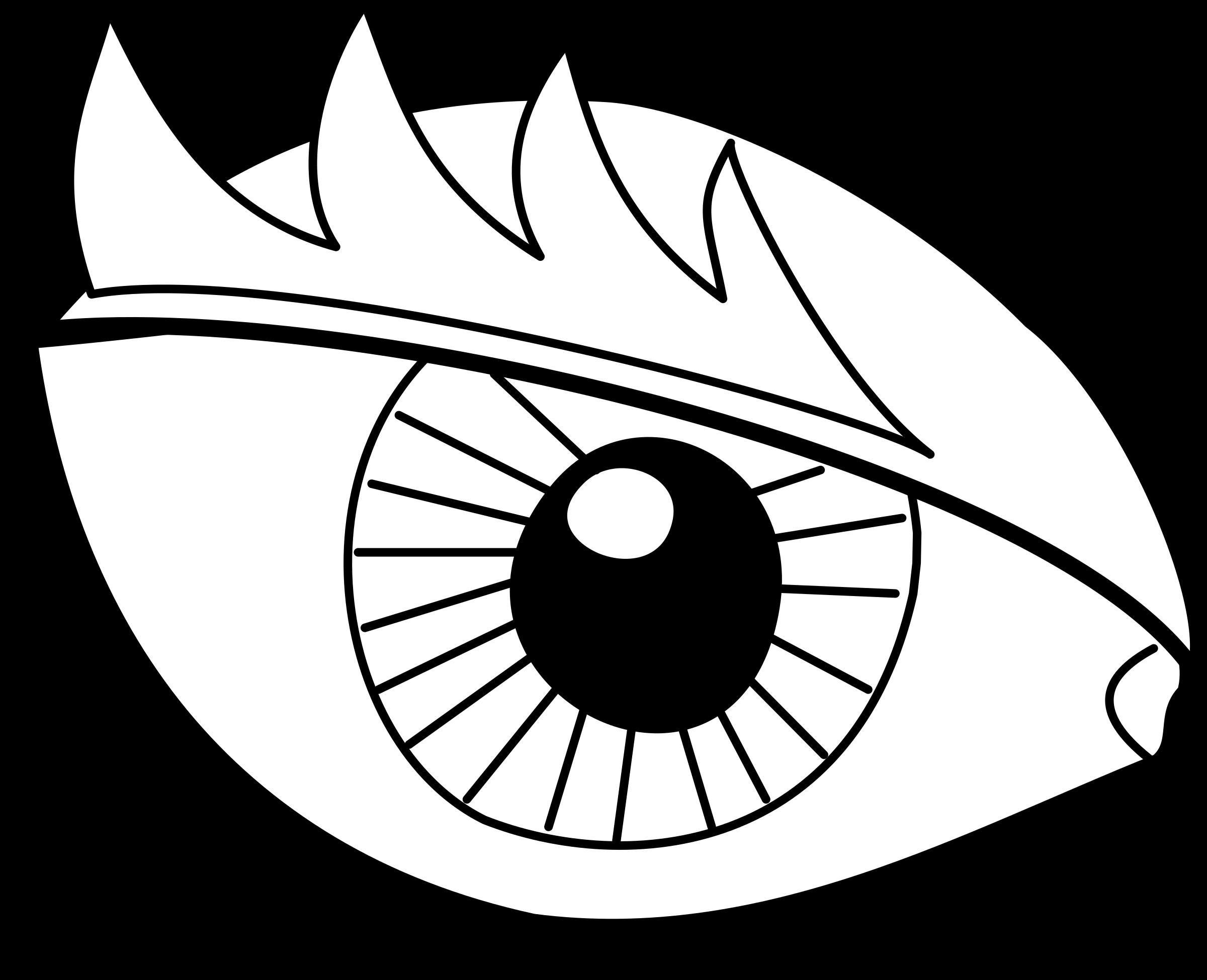 Глаз рисунок для детей раскраска
