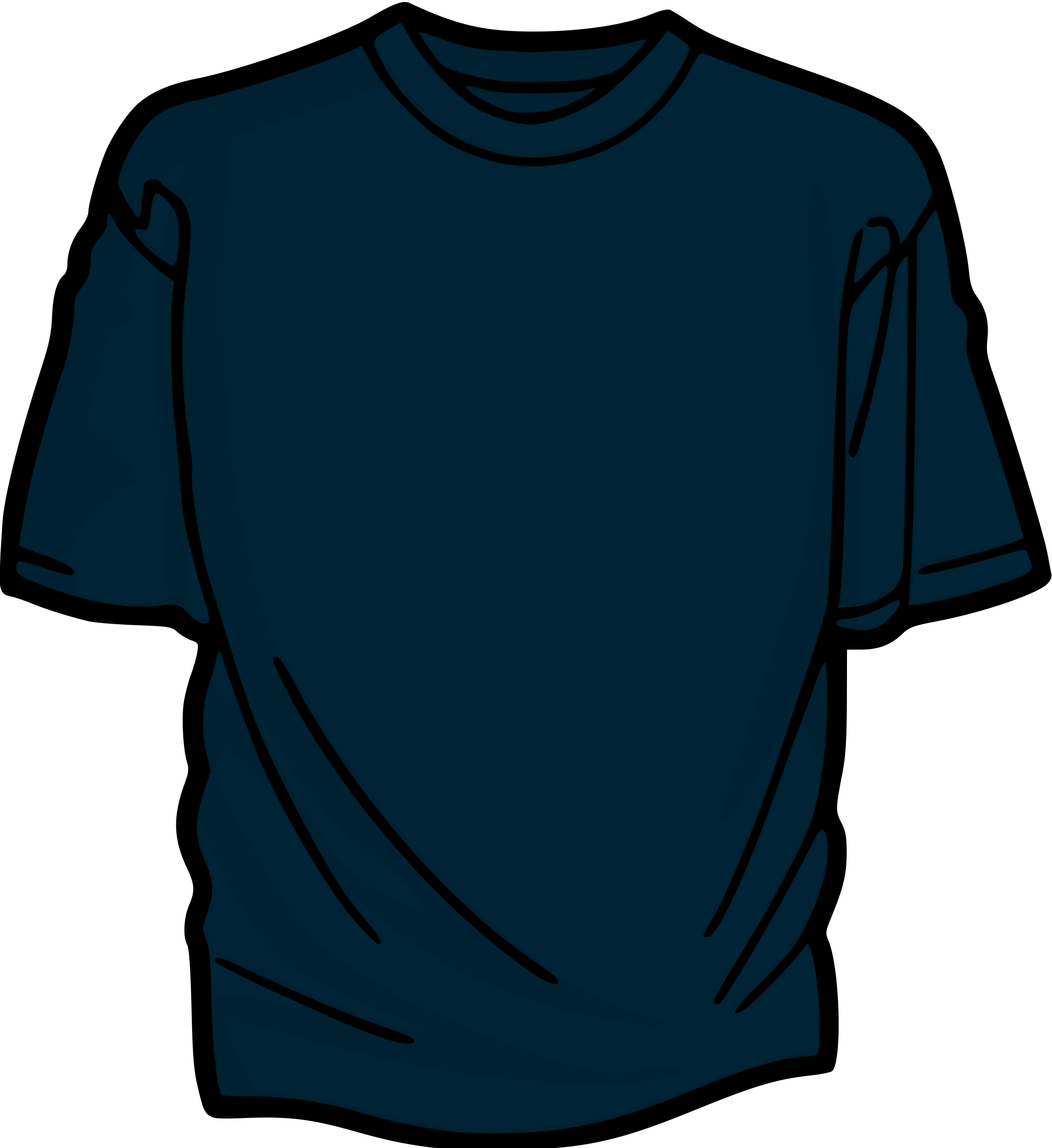 Blue T-Shirt by kuba