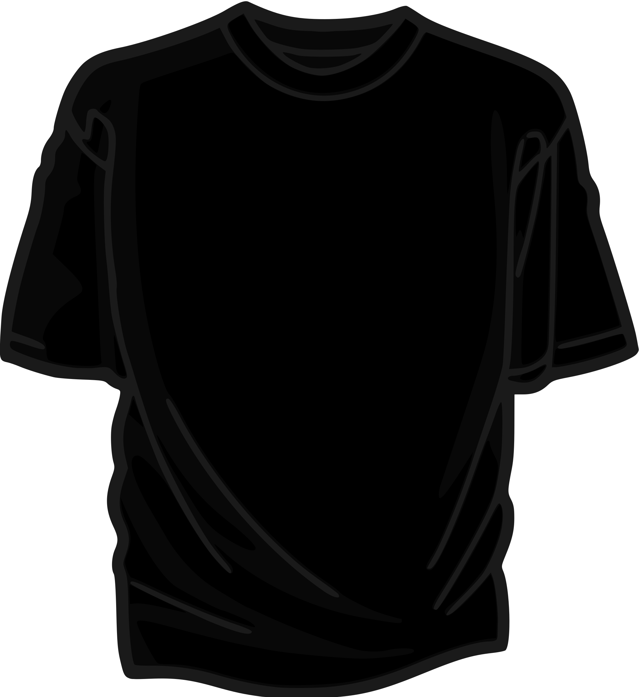 Black T-Shirt by kuba