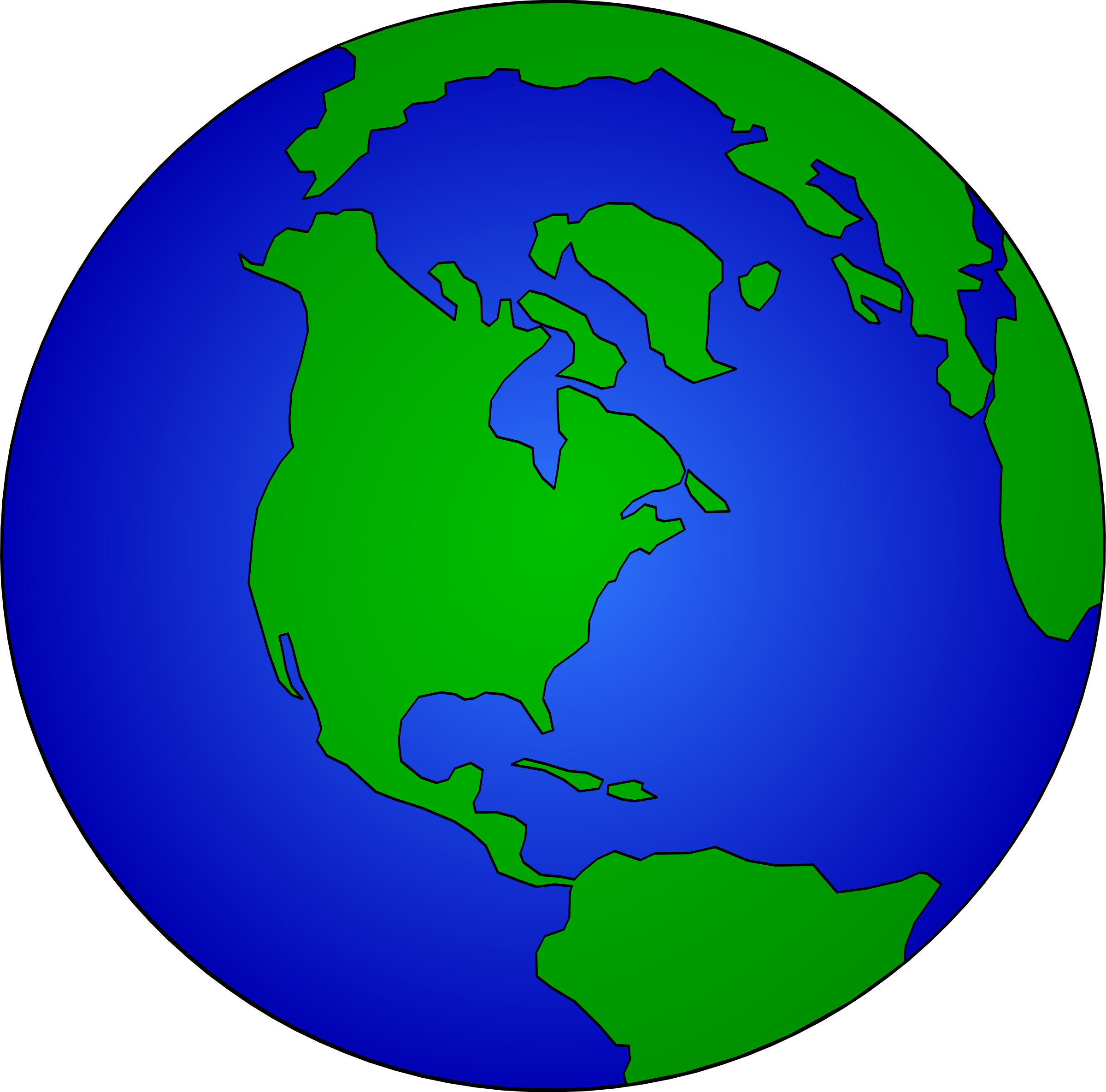 earth globe dan gerhrad 05r by Anonymous