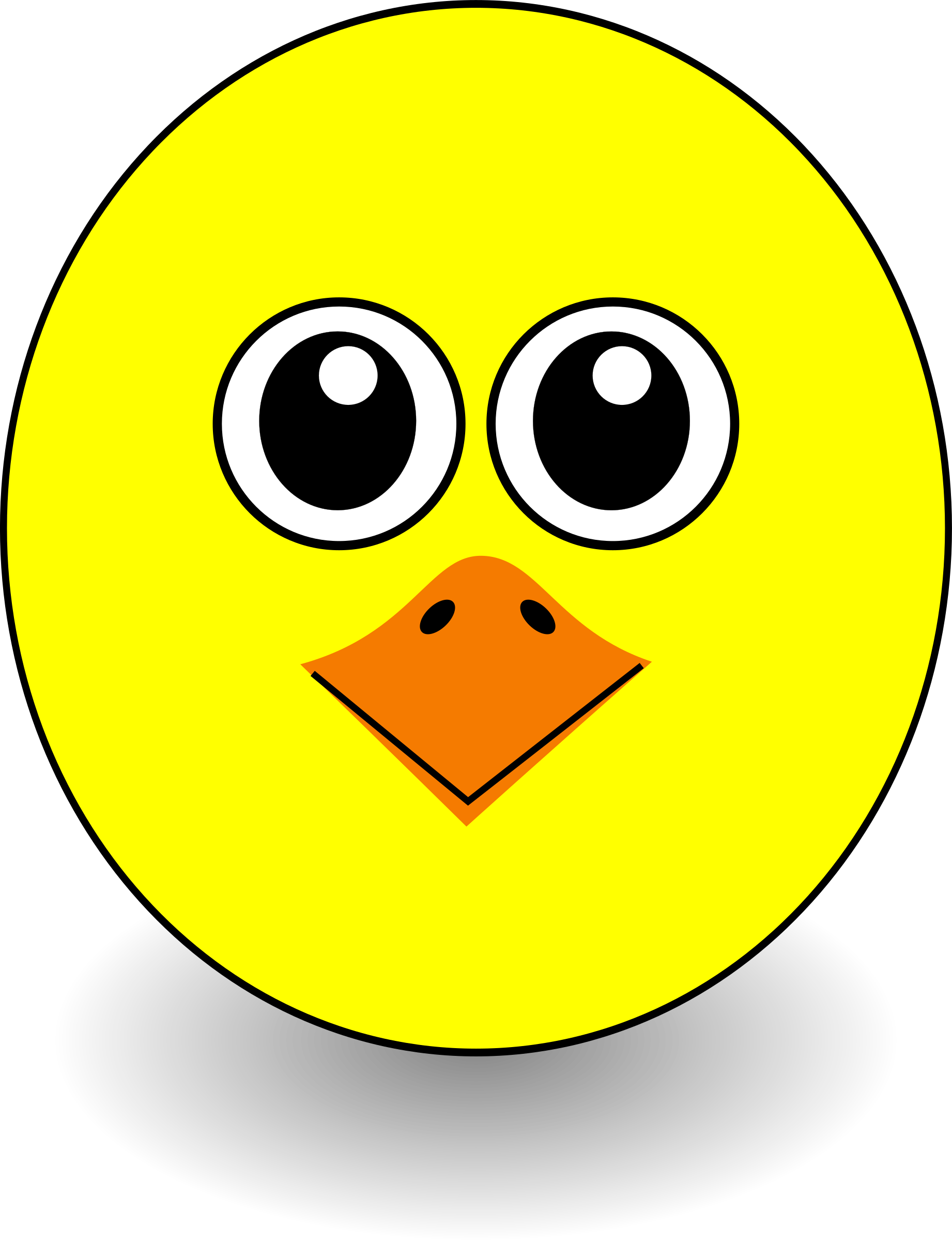 Funny Chick Face Cartoon by palomaironique