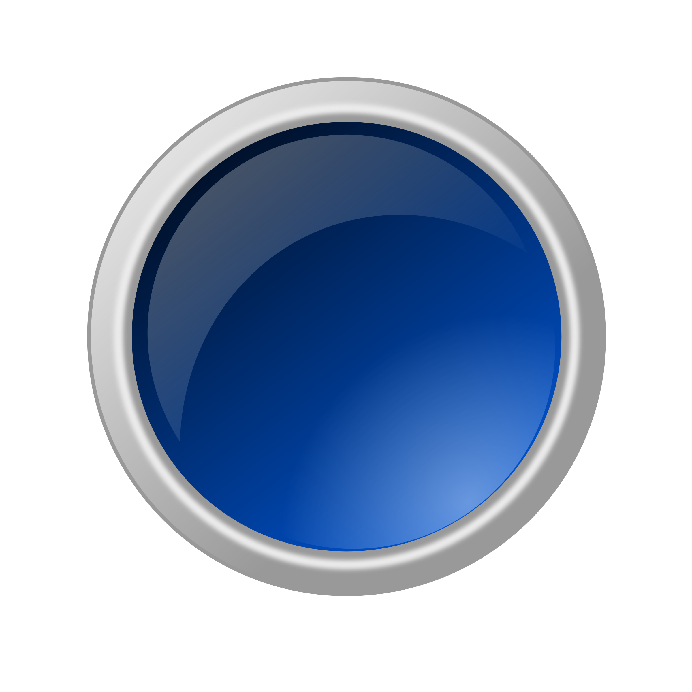 glossy blue button by ricardomaia