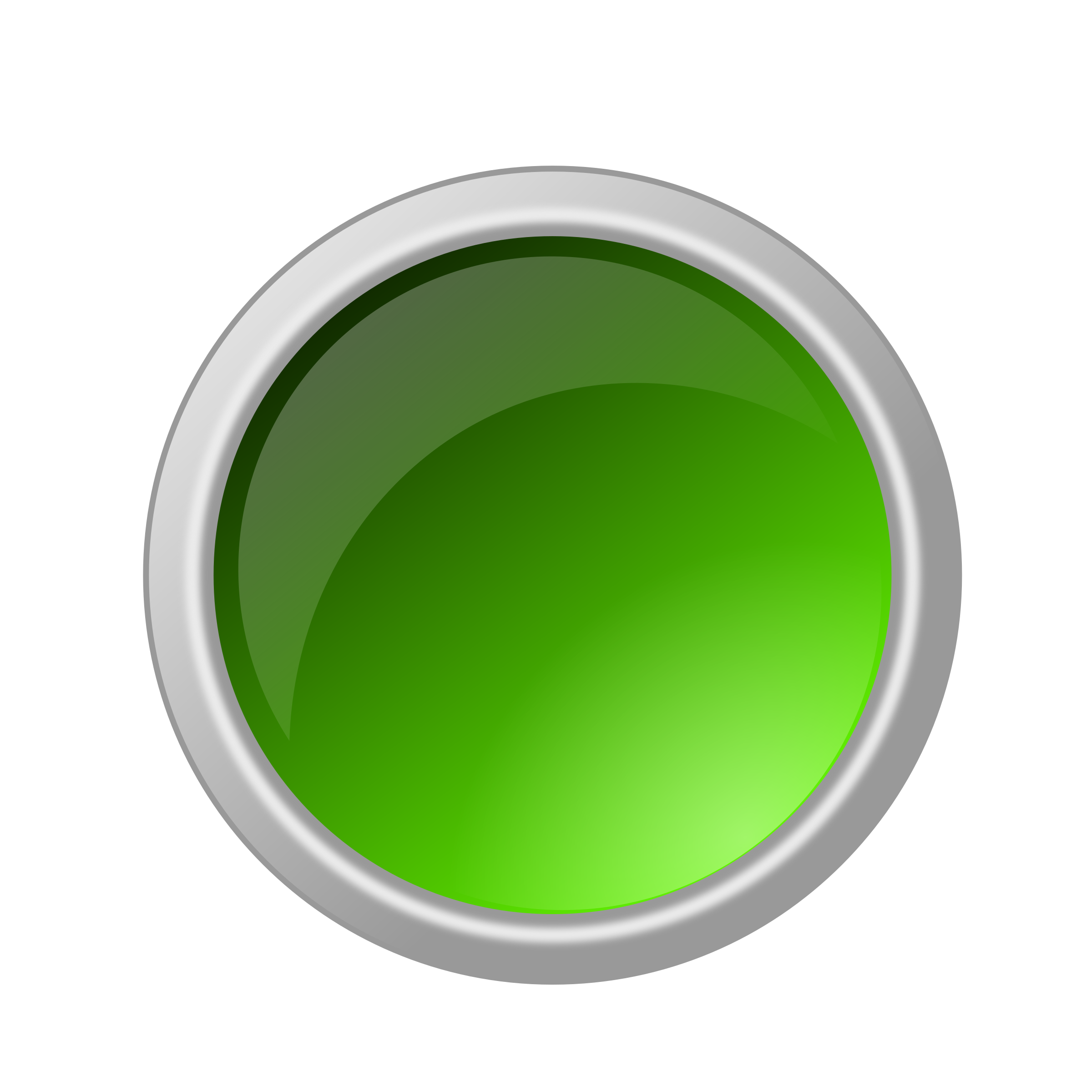 glossy green button by ricardomaia