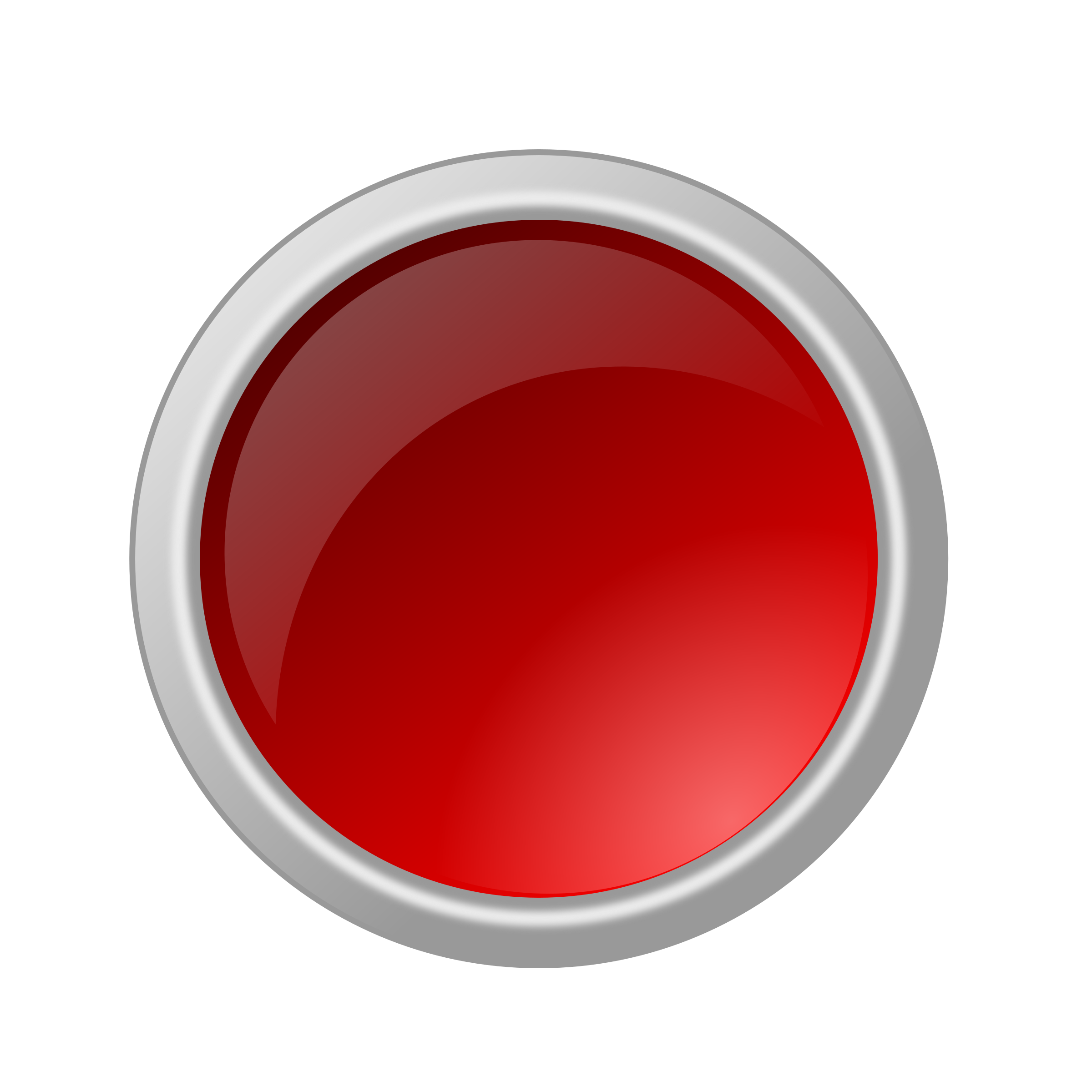 glossy red button by ricardomaia