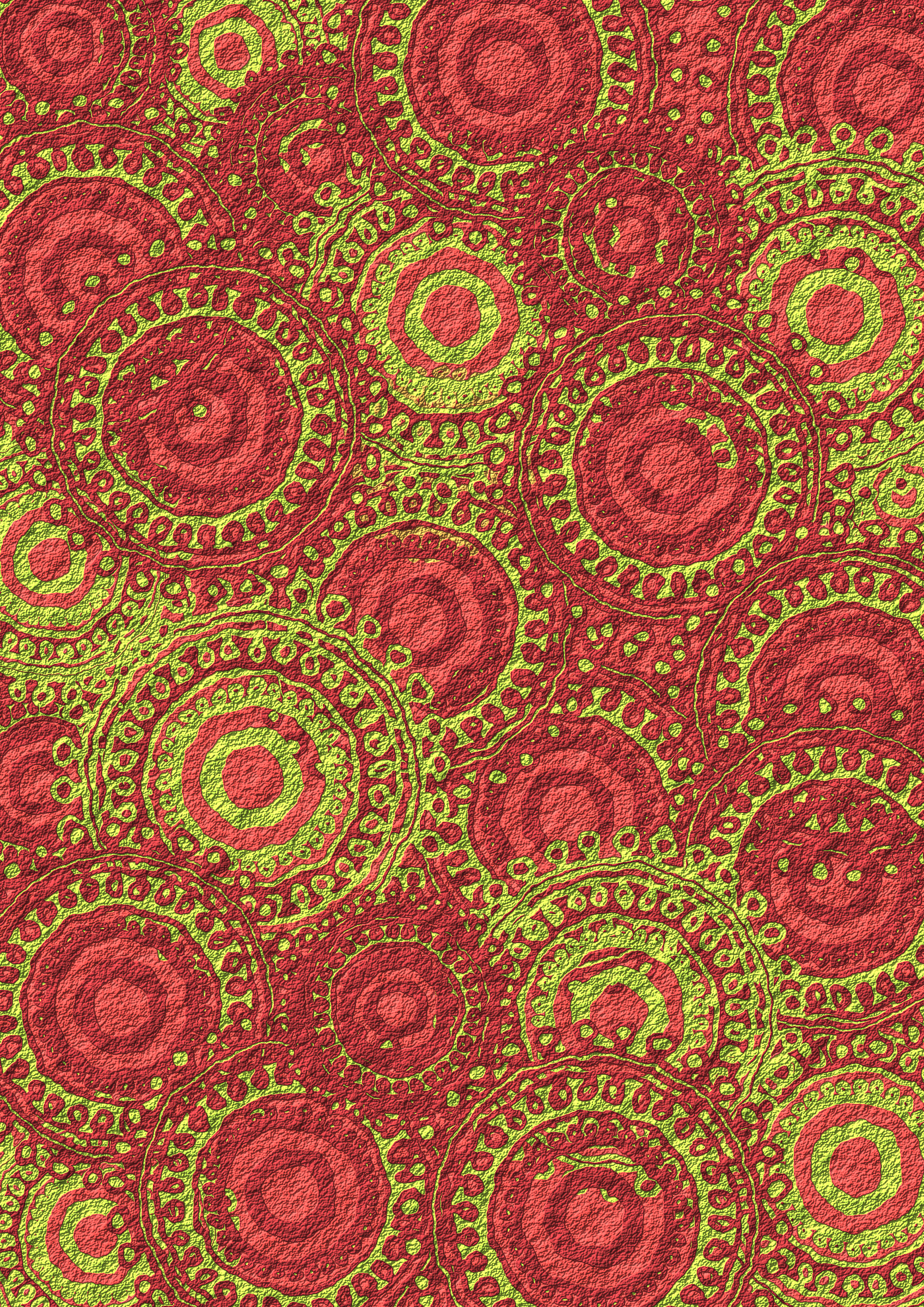 Lime Burgundy Circle Pattern Scrapbook Paper by Lovinglf