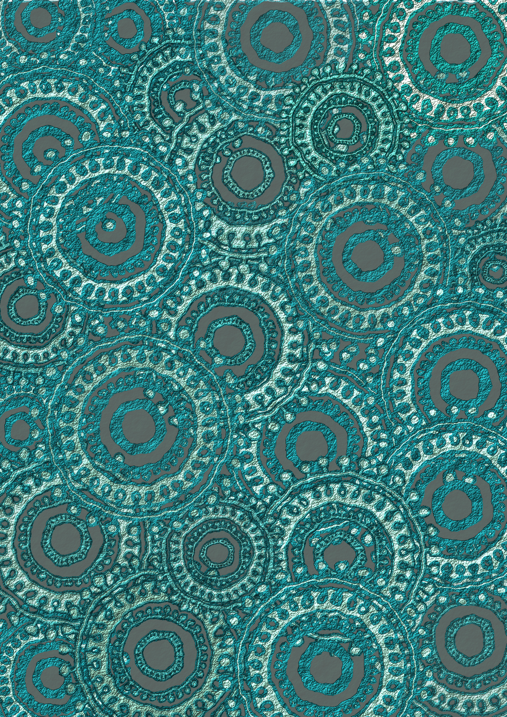 Teal Circle Pattern Scrapbook Paper by Lovinglf