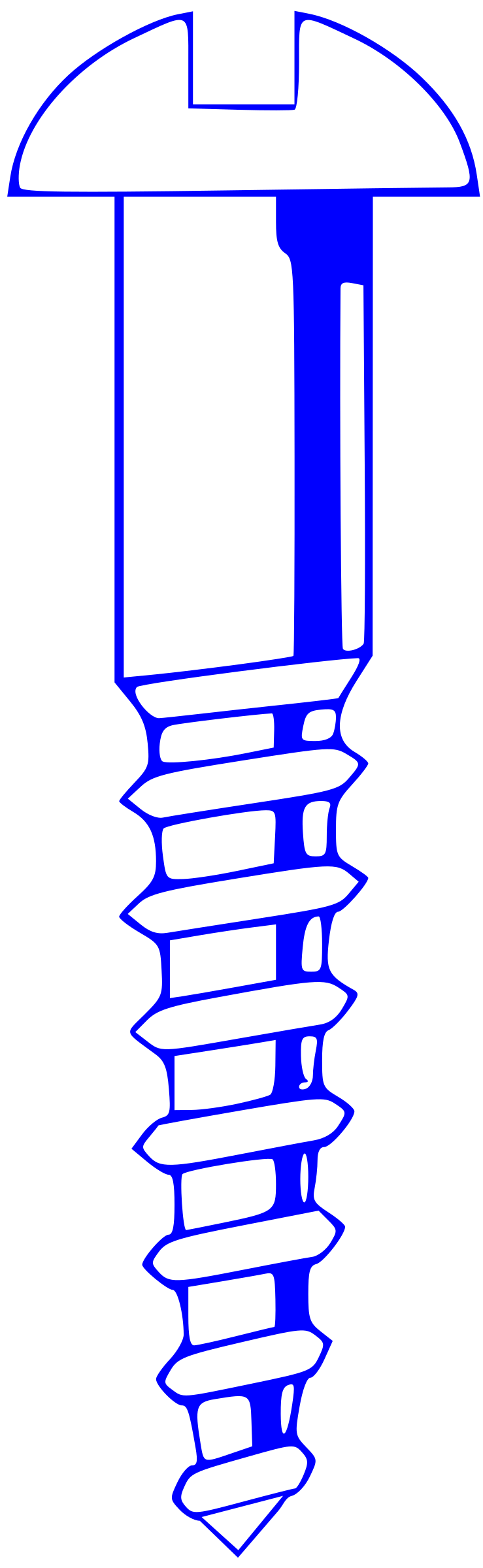 Wood Screw - Blue by Rfc1394
