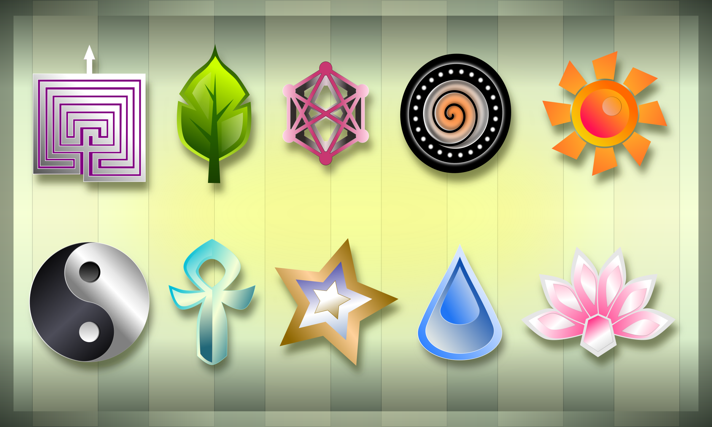 Spiritual Positivity Symbols by Viscious-Speed
