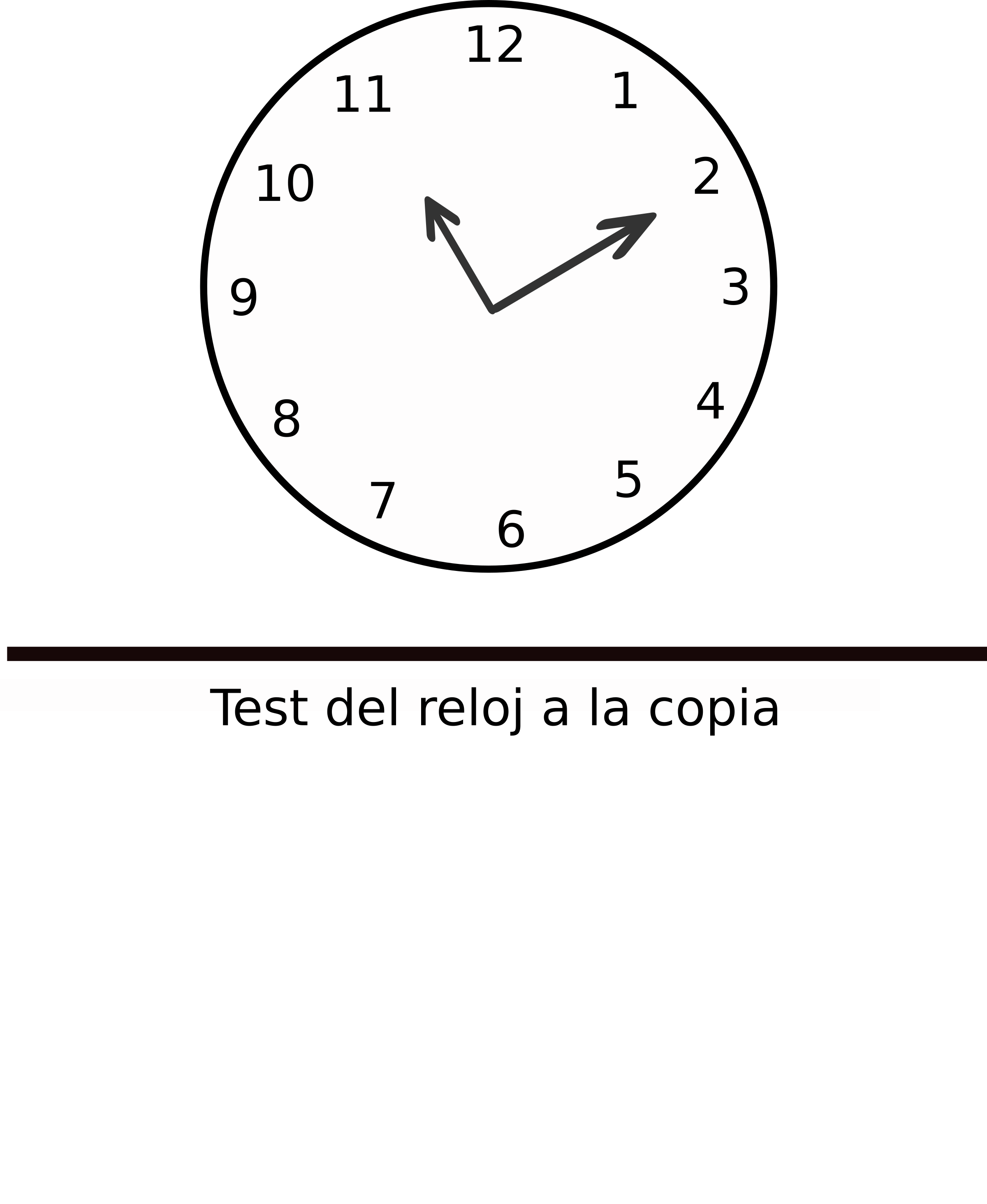 clipart test del reloj a la copia