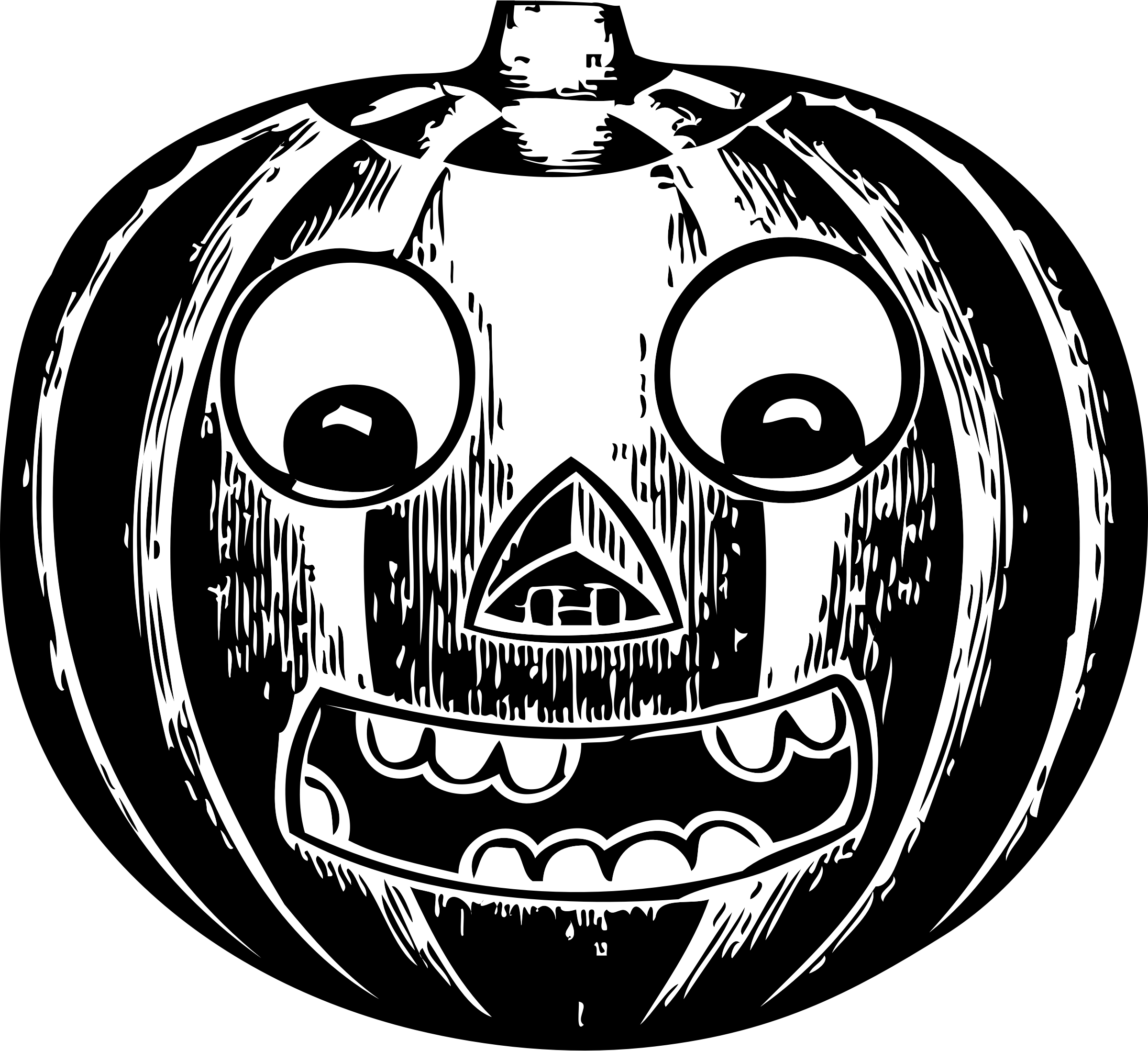 jack o' lantern with eyes by johnny_automatic