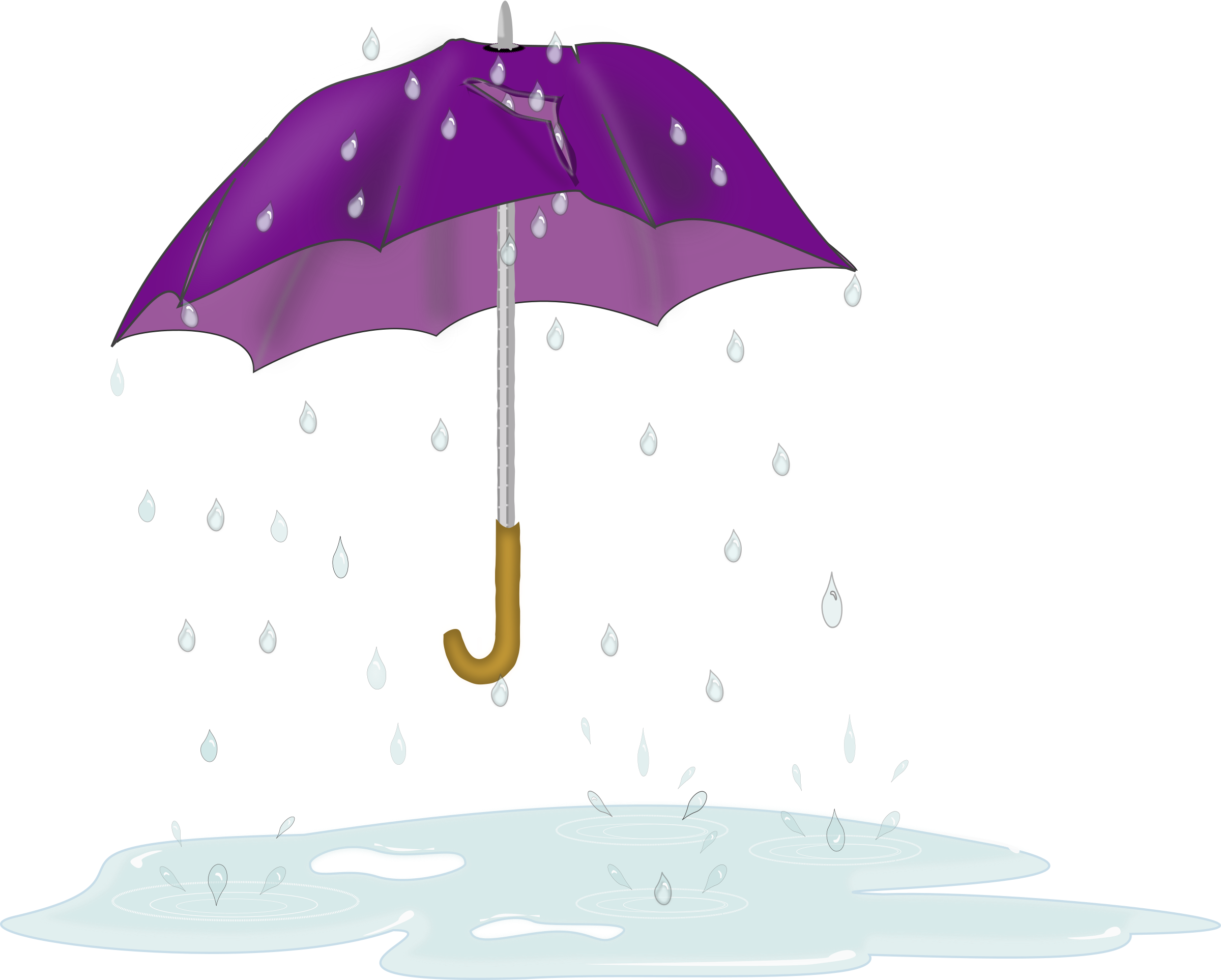 Tattered Umbrella in Rain by laurianne