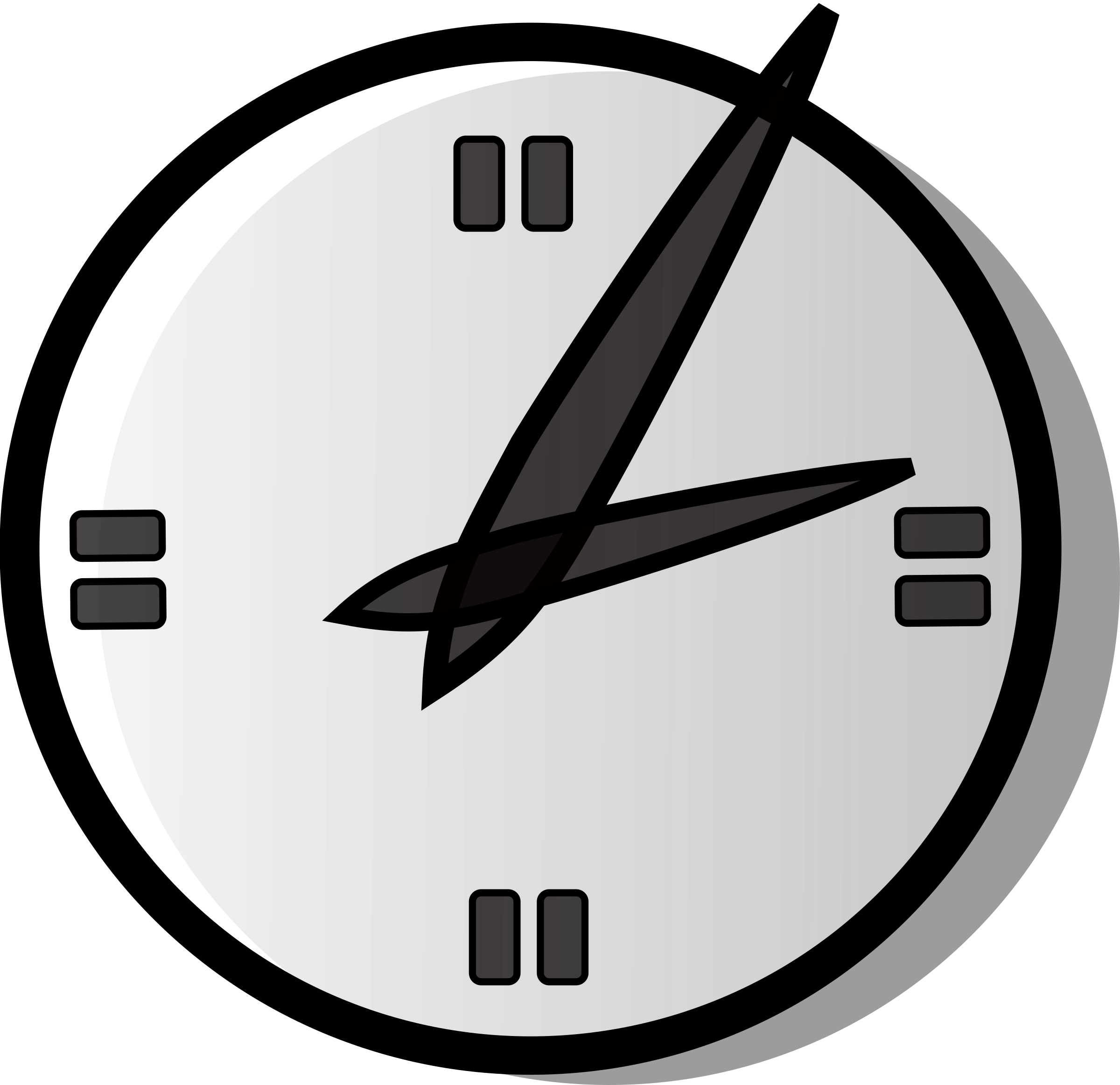 analog clock by Anonymous