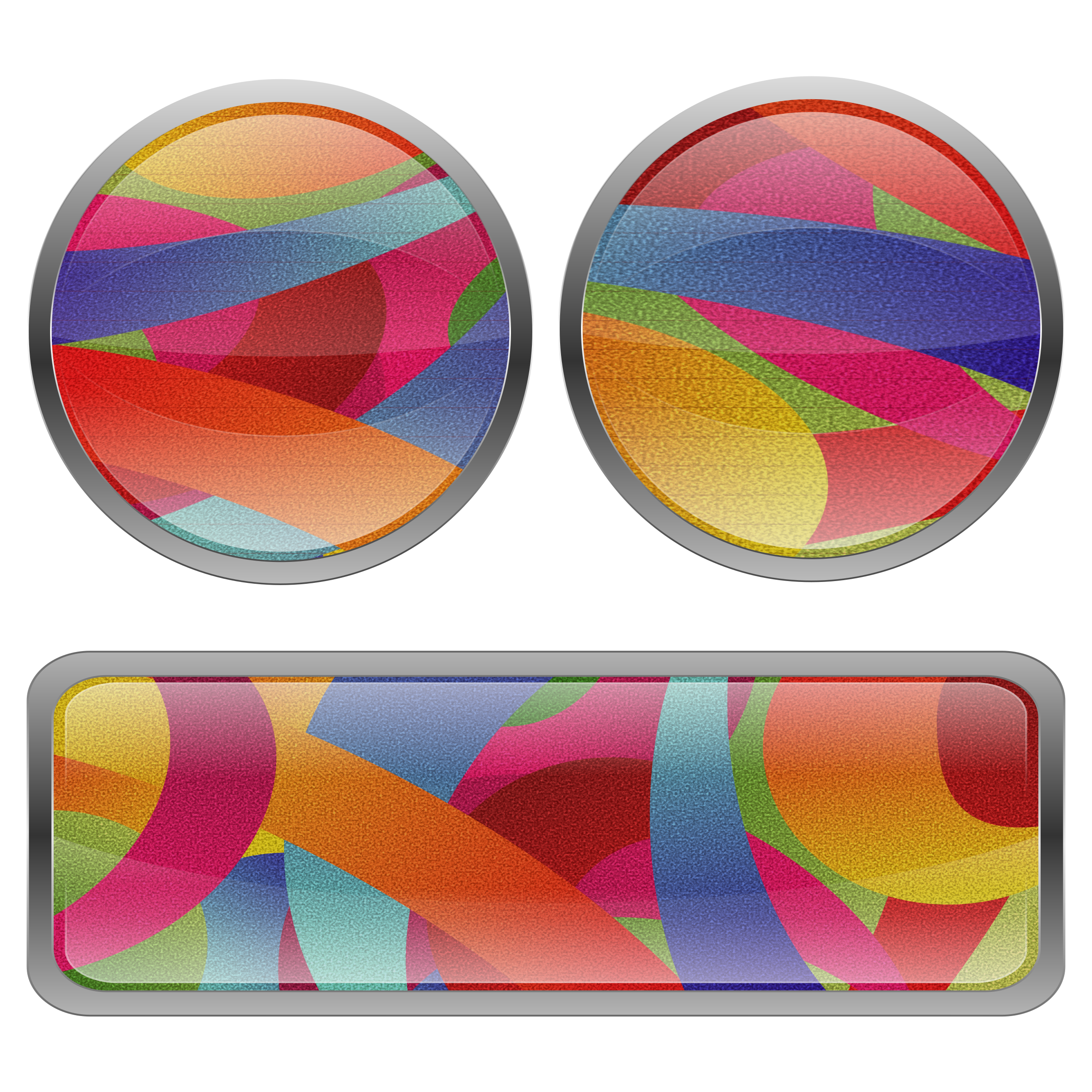 Multicolored Film Grained Buttons by Viscious-Speed