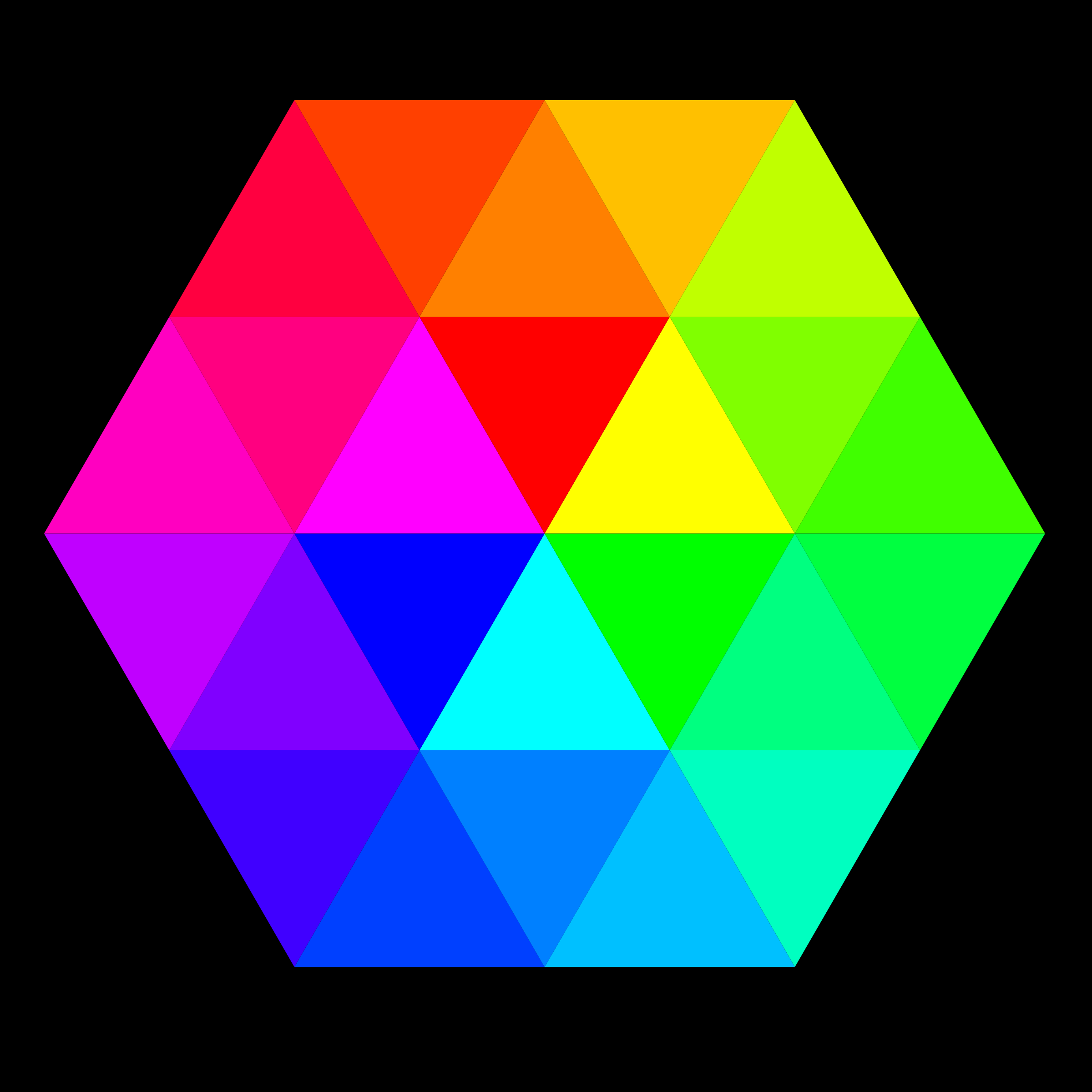 24 color hexagon by 10binary