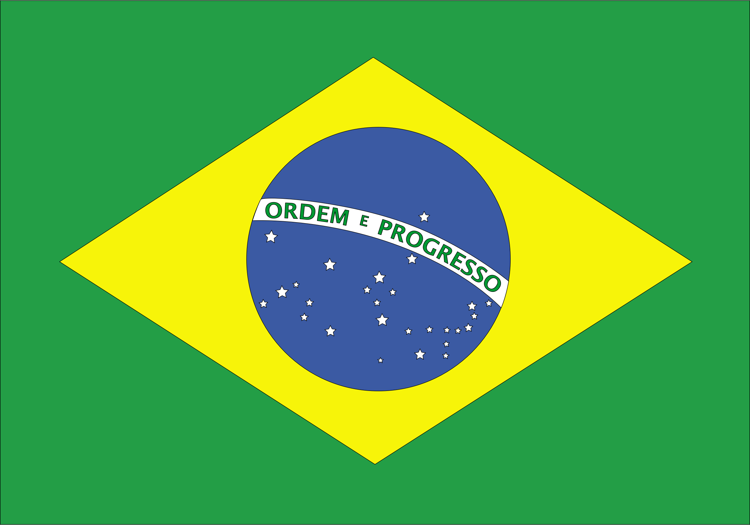 flag of brazil by Anonymous
