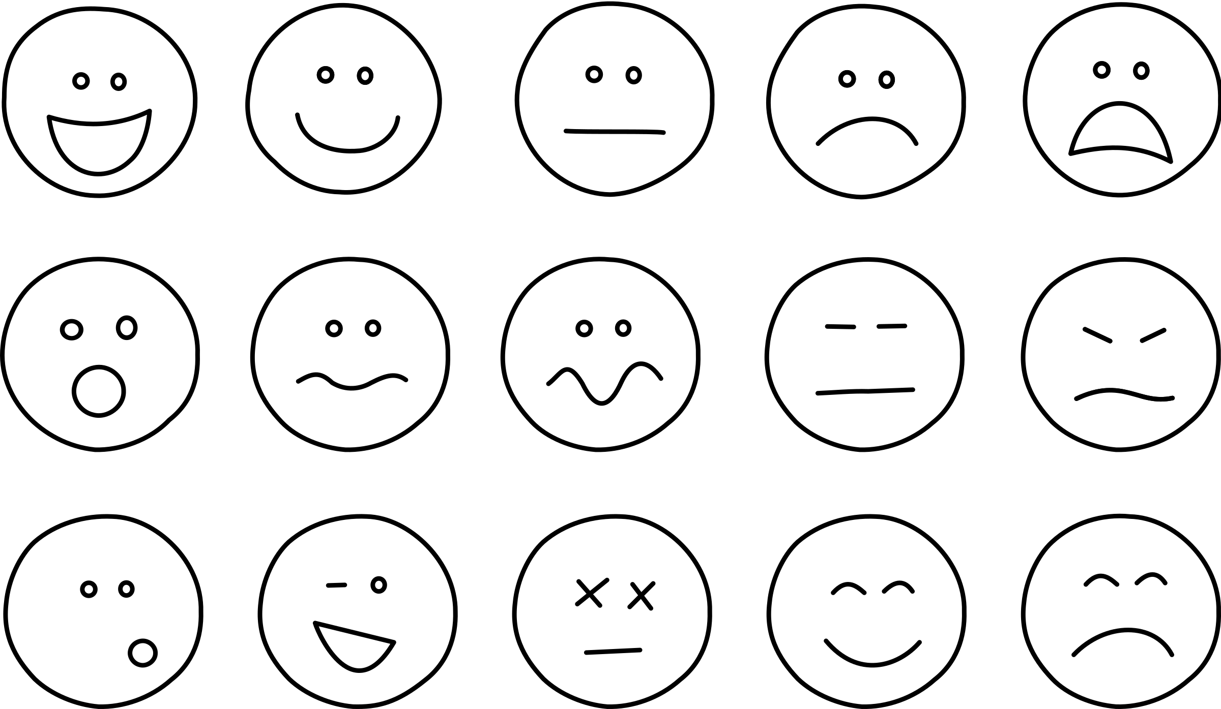 Smiley Face Clip Art Emotions on scared stick person clip art