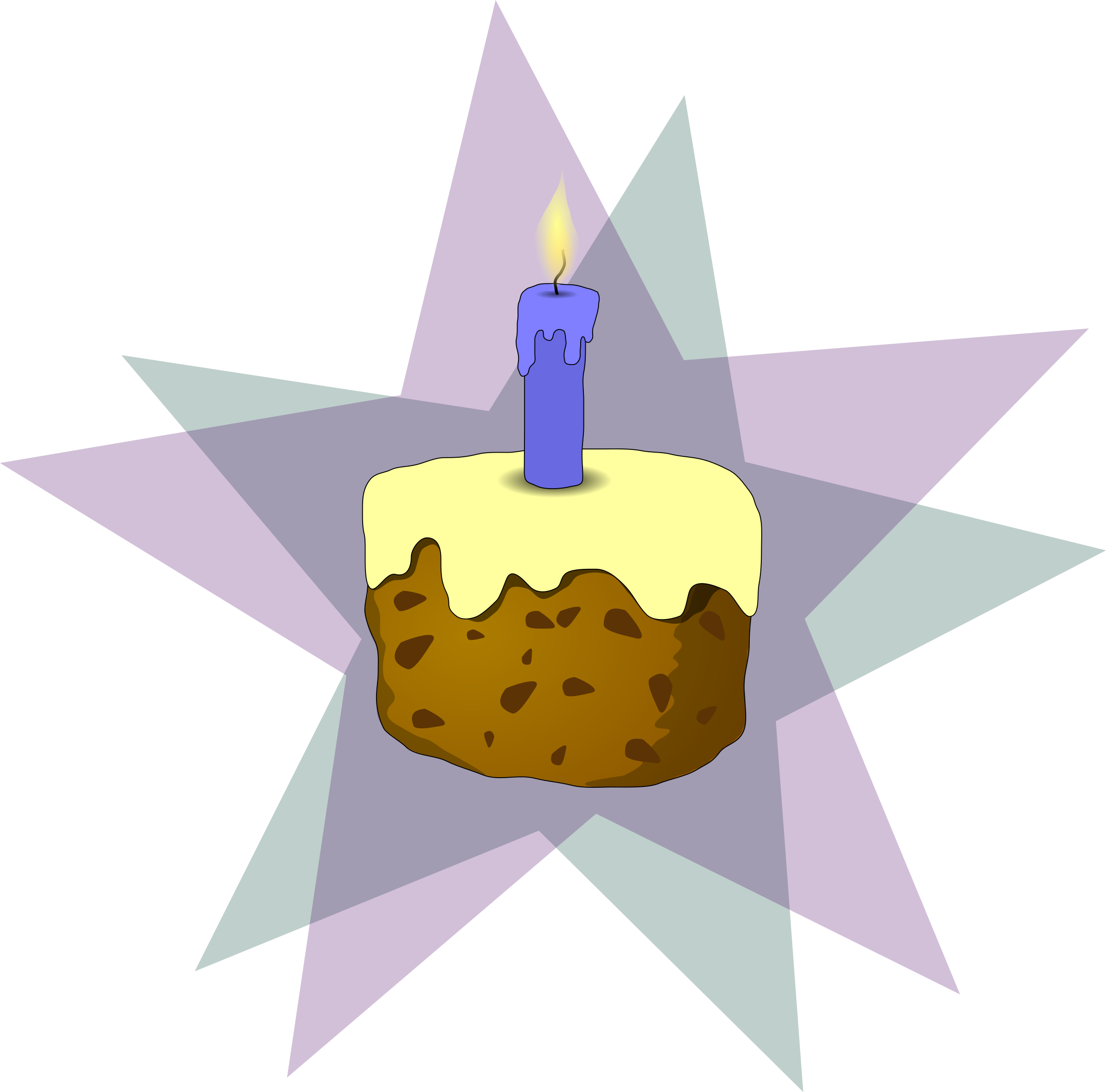 cake and candle by Anonymous