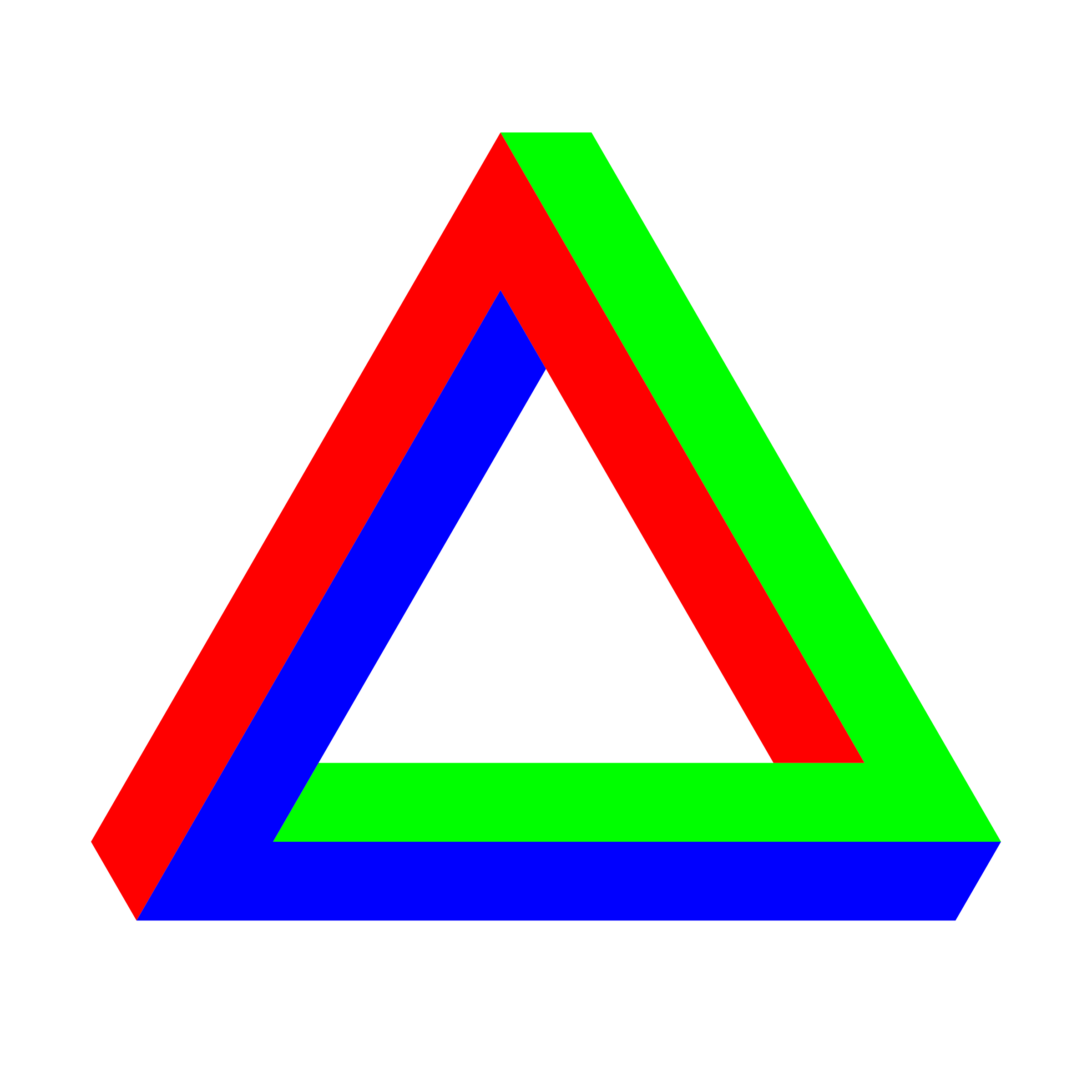 Penrose Triangle RGB by 10binary