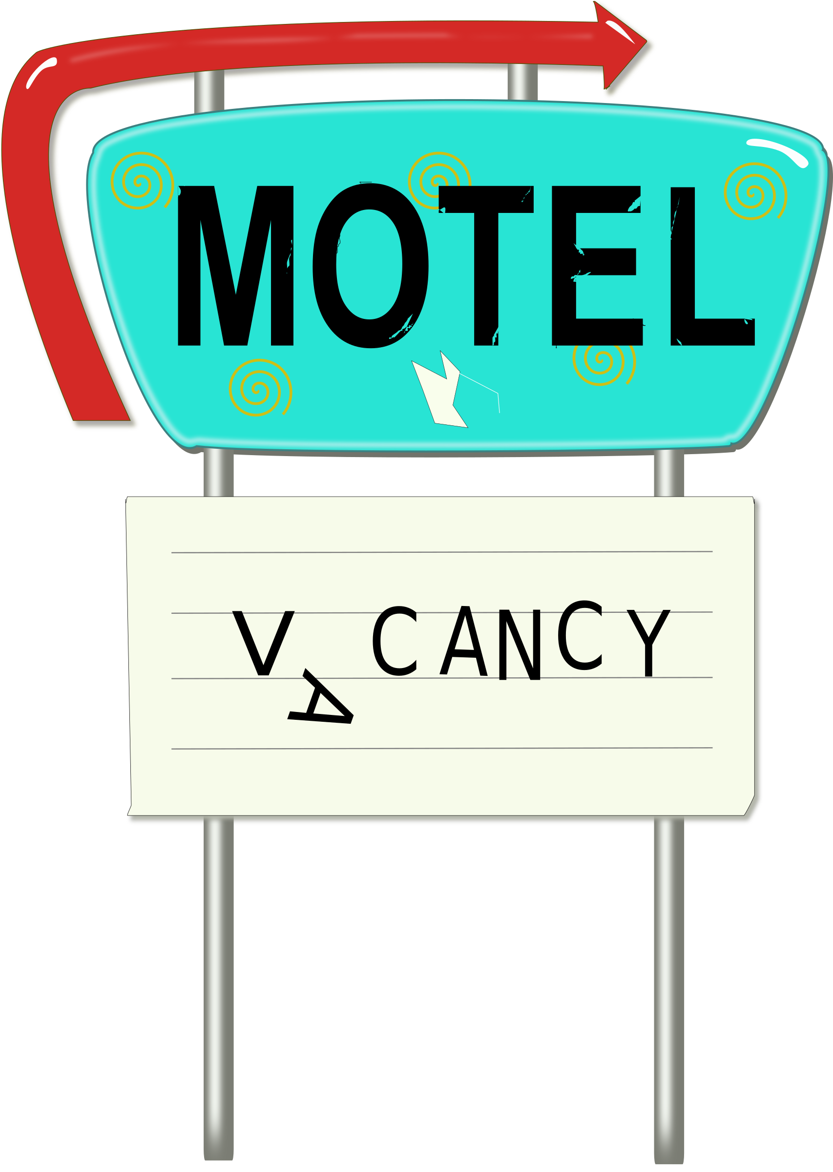 Vintage Motel Sign by laurianne