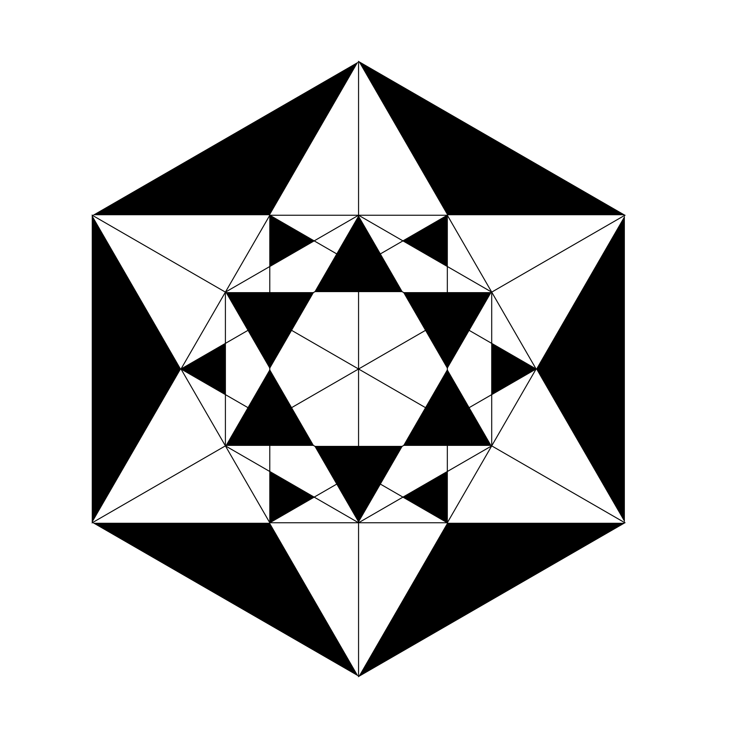 hexagons and triangles beyond description by 10binary