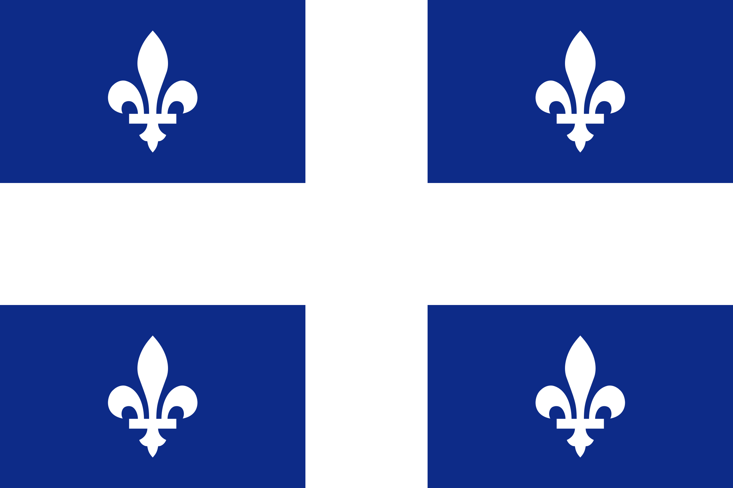 flag of Quebec Canada by Anonymous