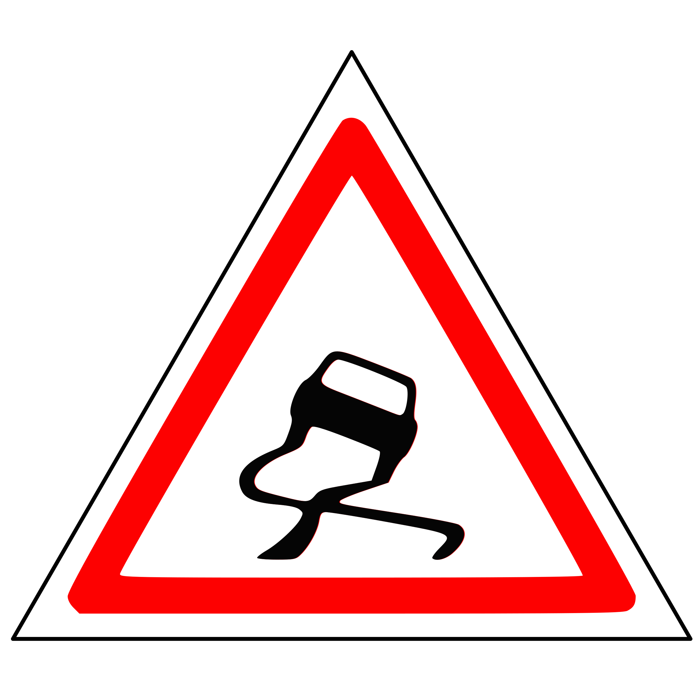 Warning Sliding Car Roadsign by Anonymous