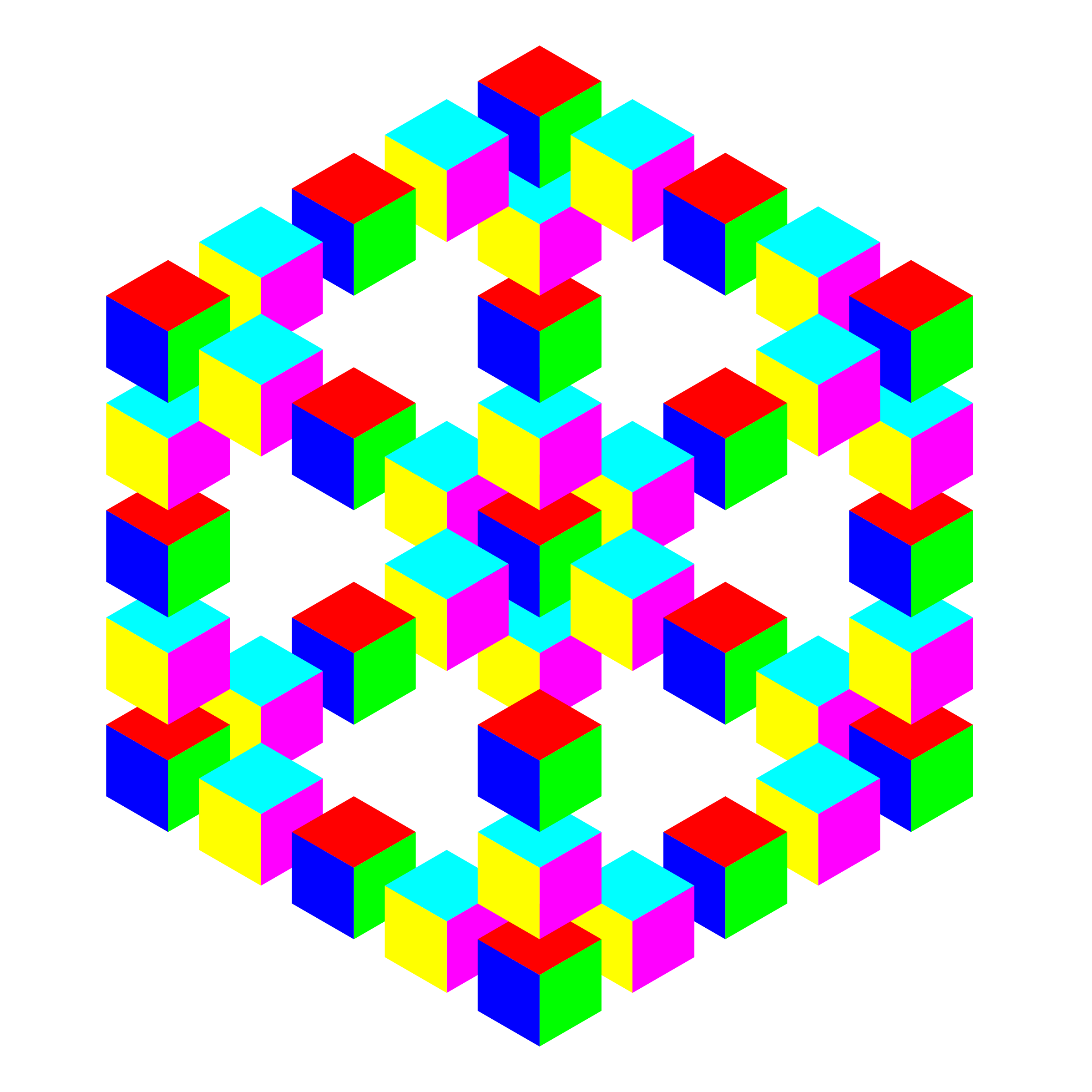 impossible hexagon cube by 10binary