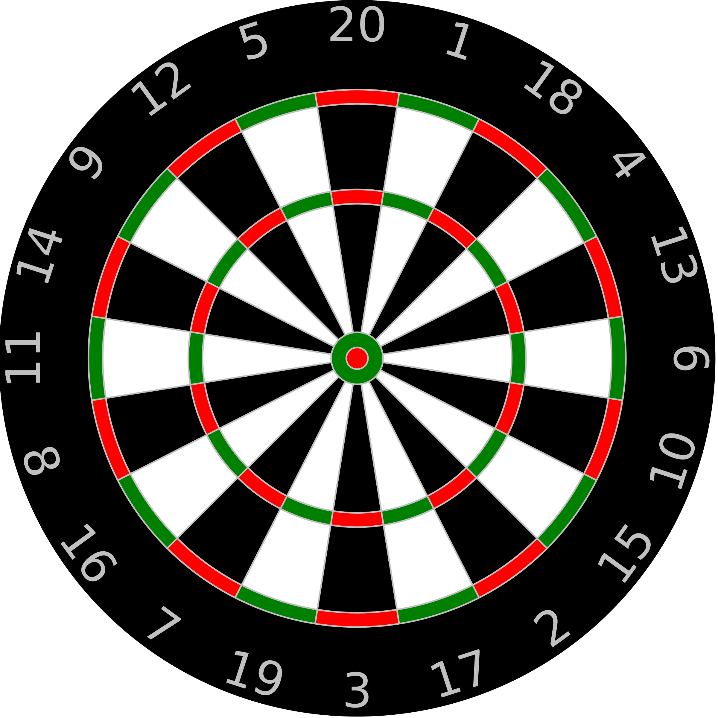 Dartboard Template by Anonymous
