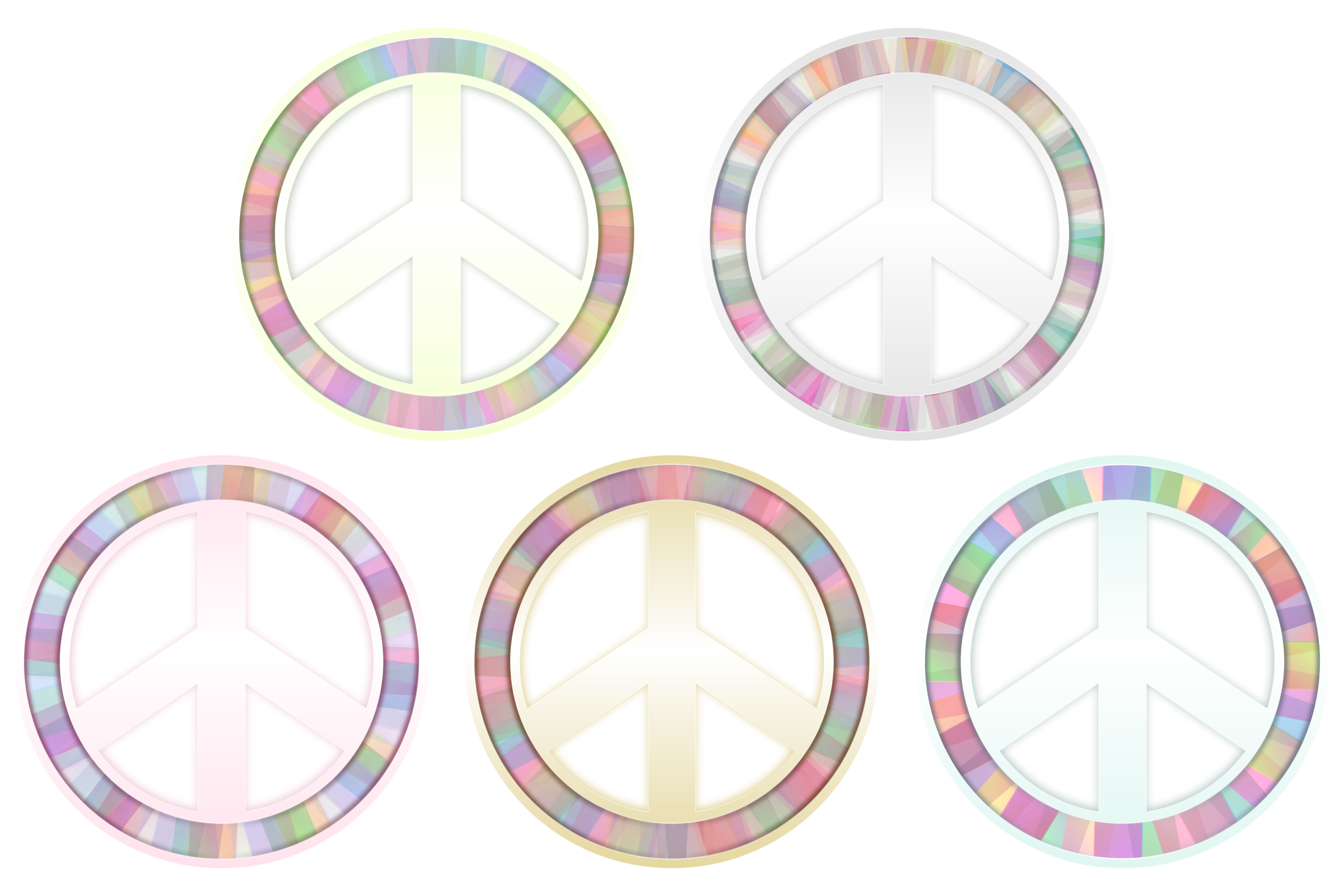Peace Symbol - Pastels by Viscious-Speed