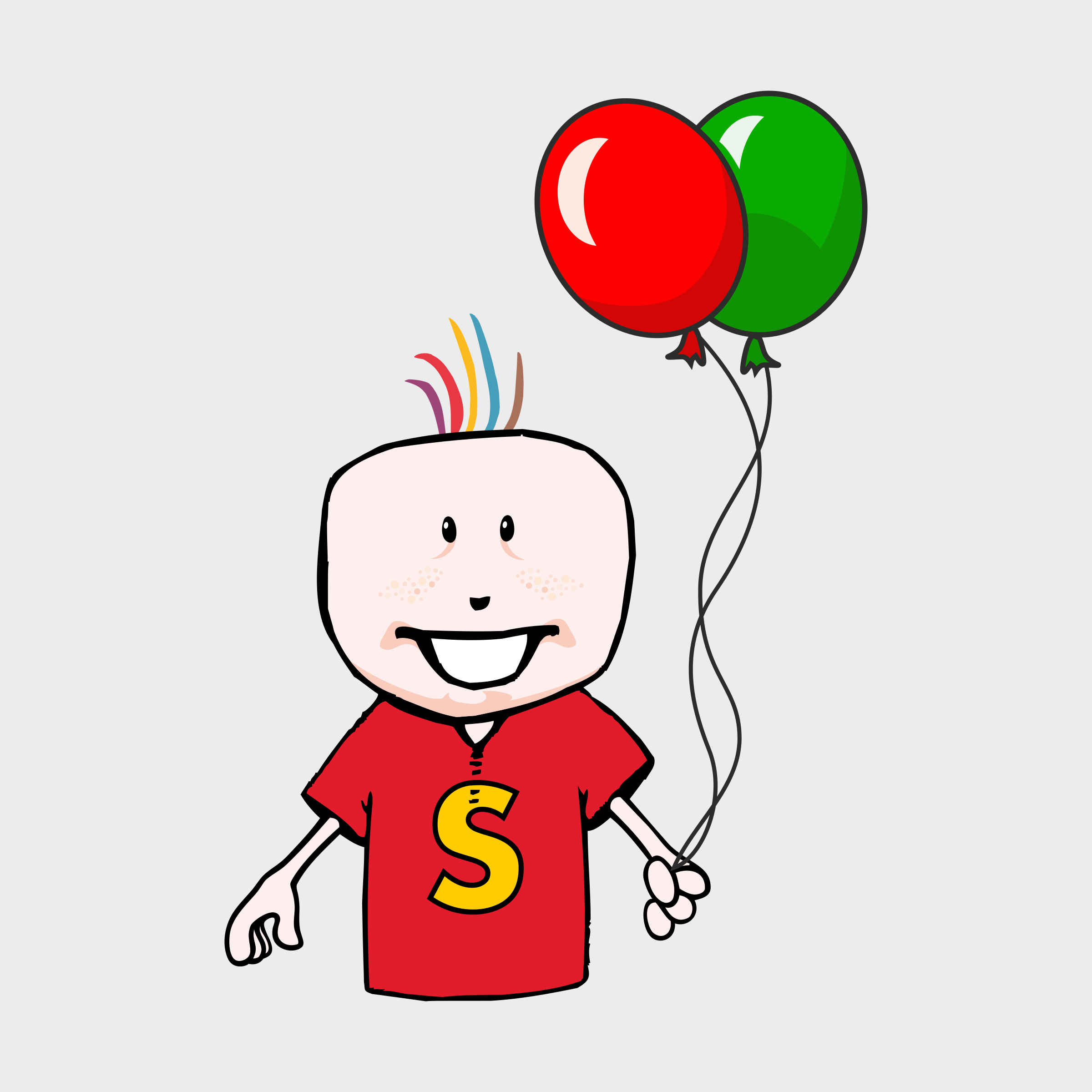 boy with balloons by 3Dline